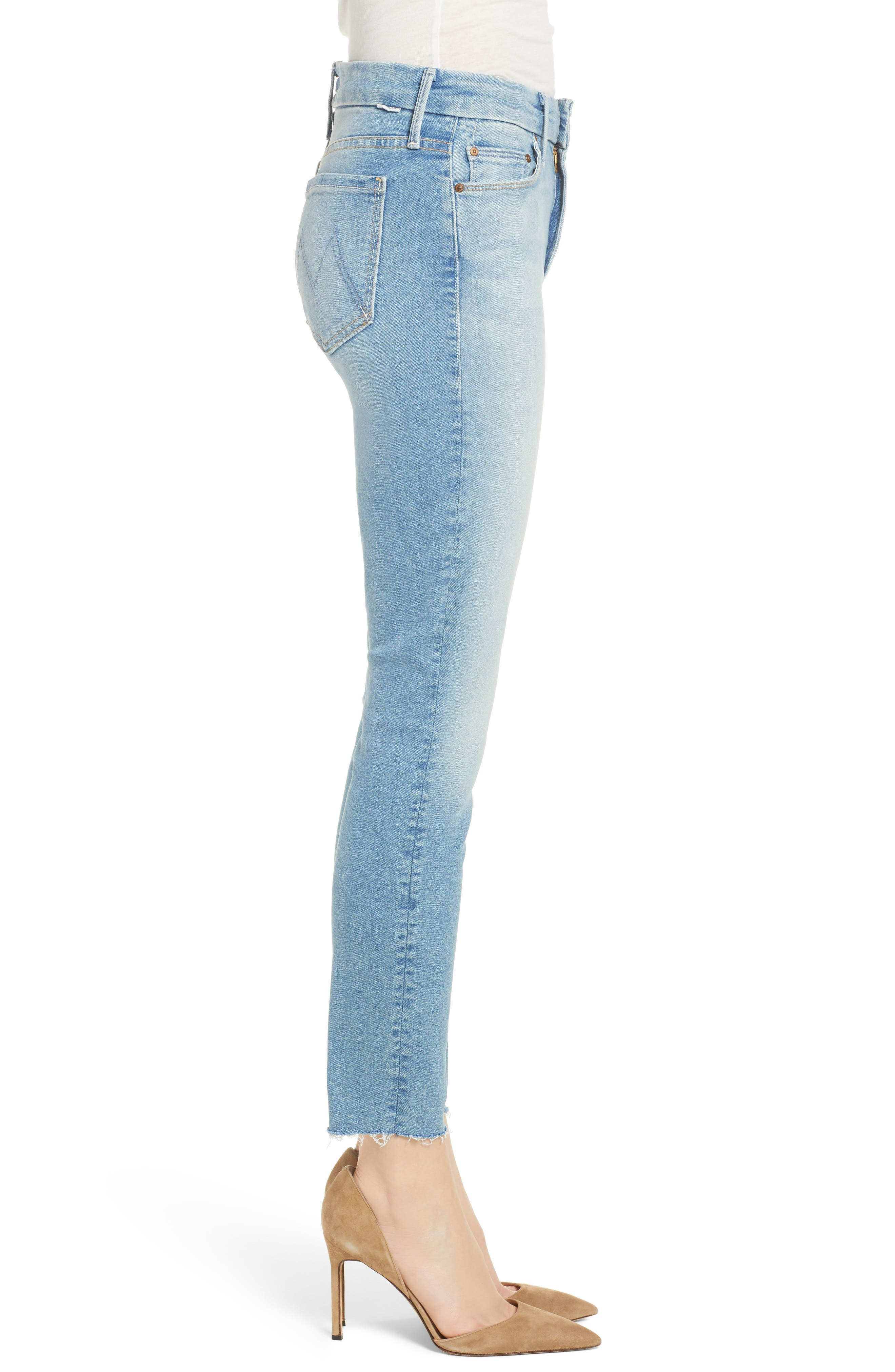 The Looker Fray Ankle Skinny Jeans,                             Alternate thumbnail 3, color,                             400
