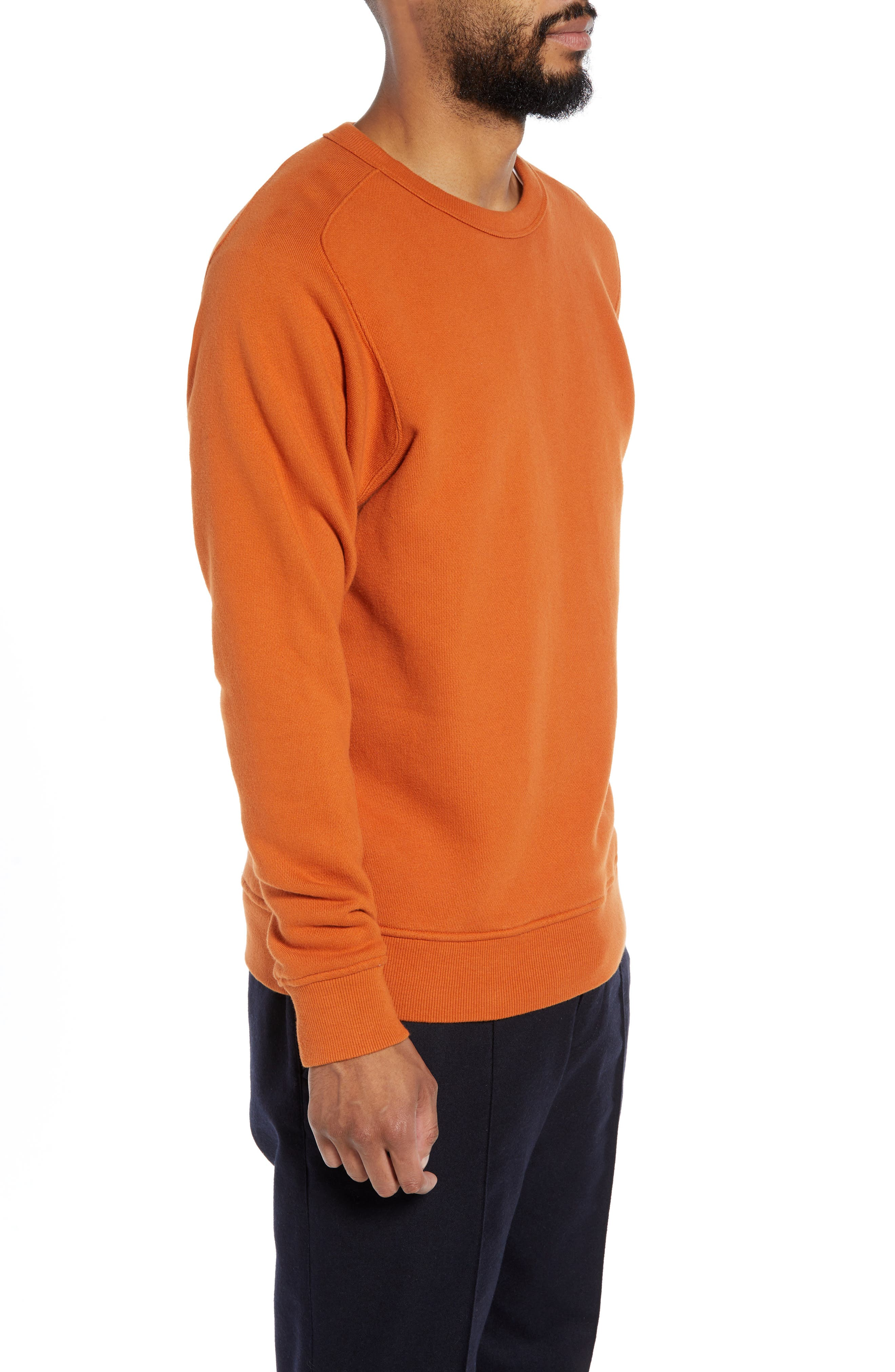 Almost Grown Crewneck Sweatshirt,                             Alternate thumbnail 3, color,                             RUST