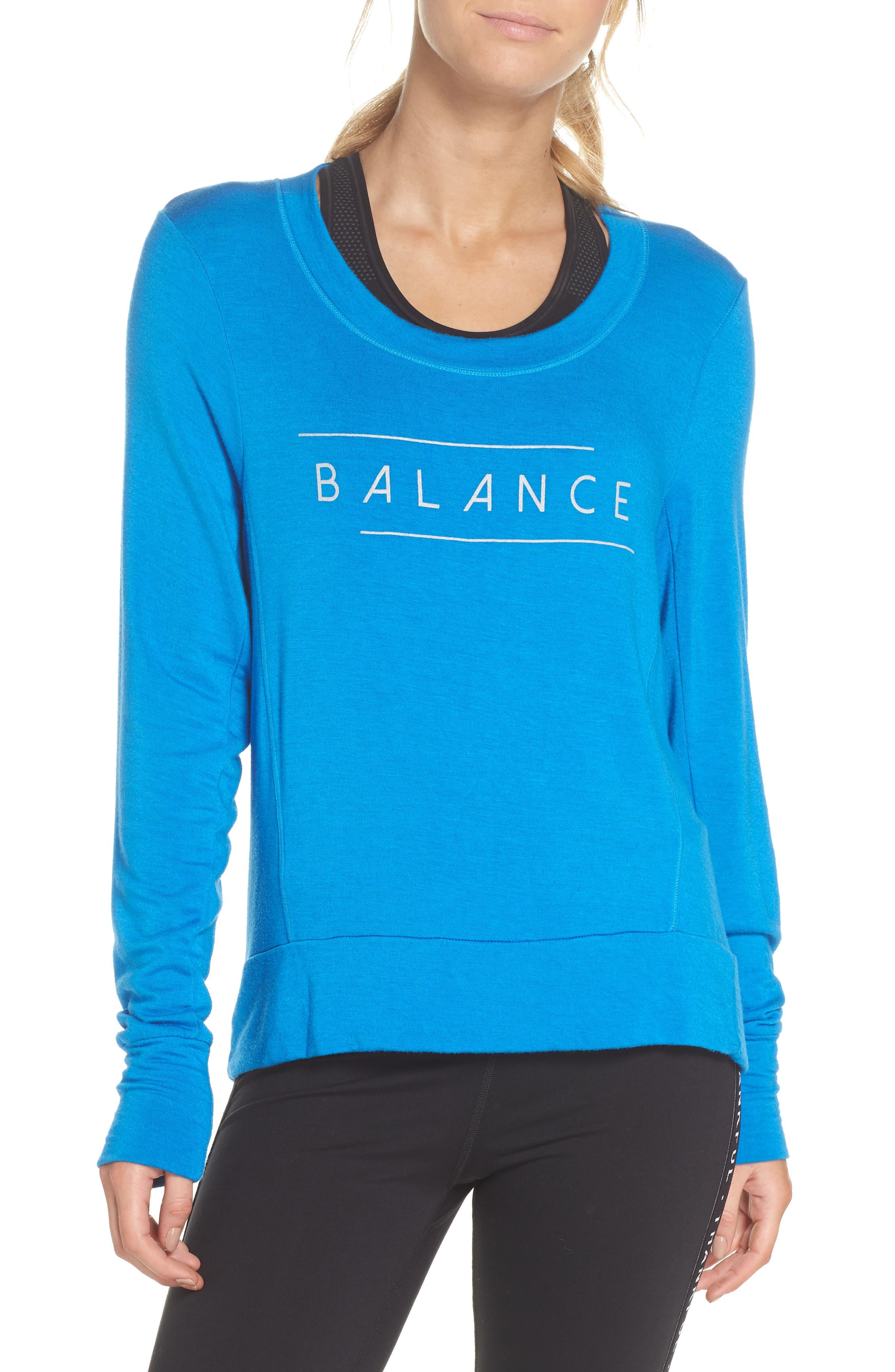 Jules Balance Sweatshirt,                             Main thumbnail 1, color,                             AZURE