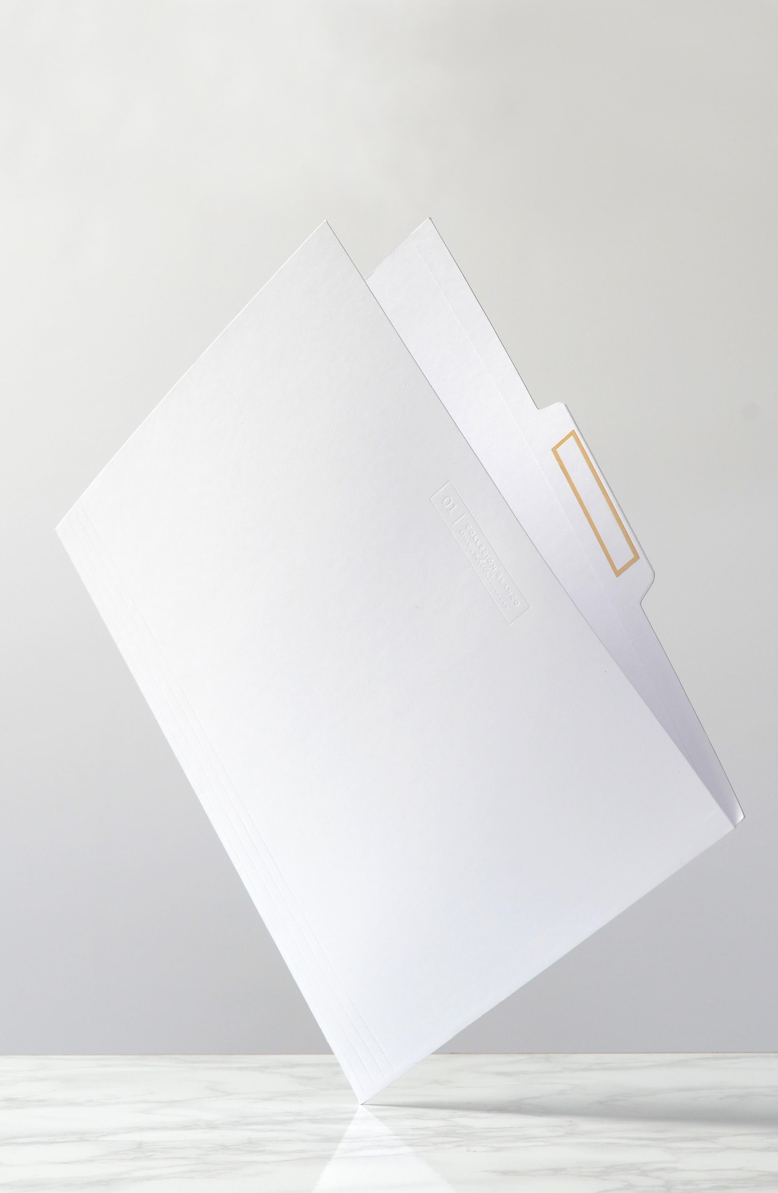russell + hazel Acrylic File Box Set,                             Alternate thumbnail 3, color,                             CLEAR