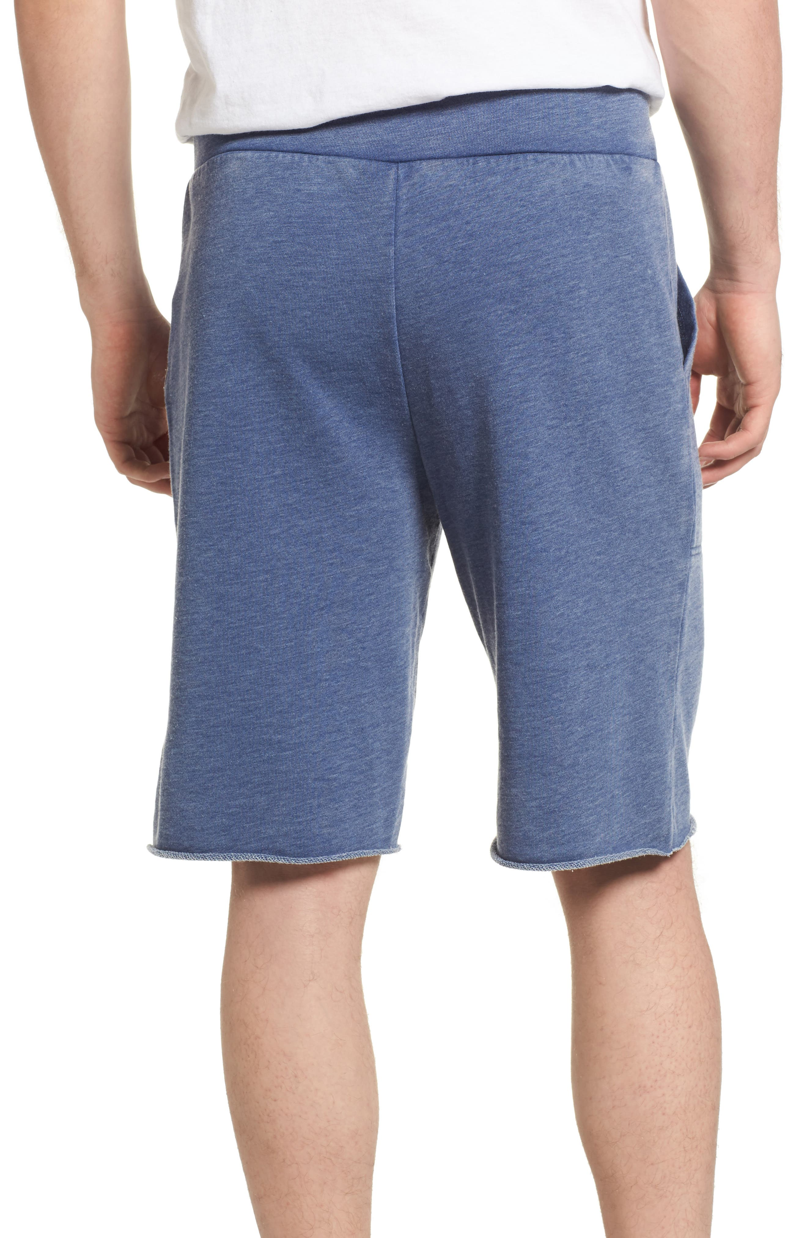'Victory' French Terry Shorts,                             Alternate thumbnail 2, color,                             NAVY