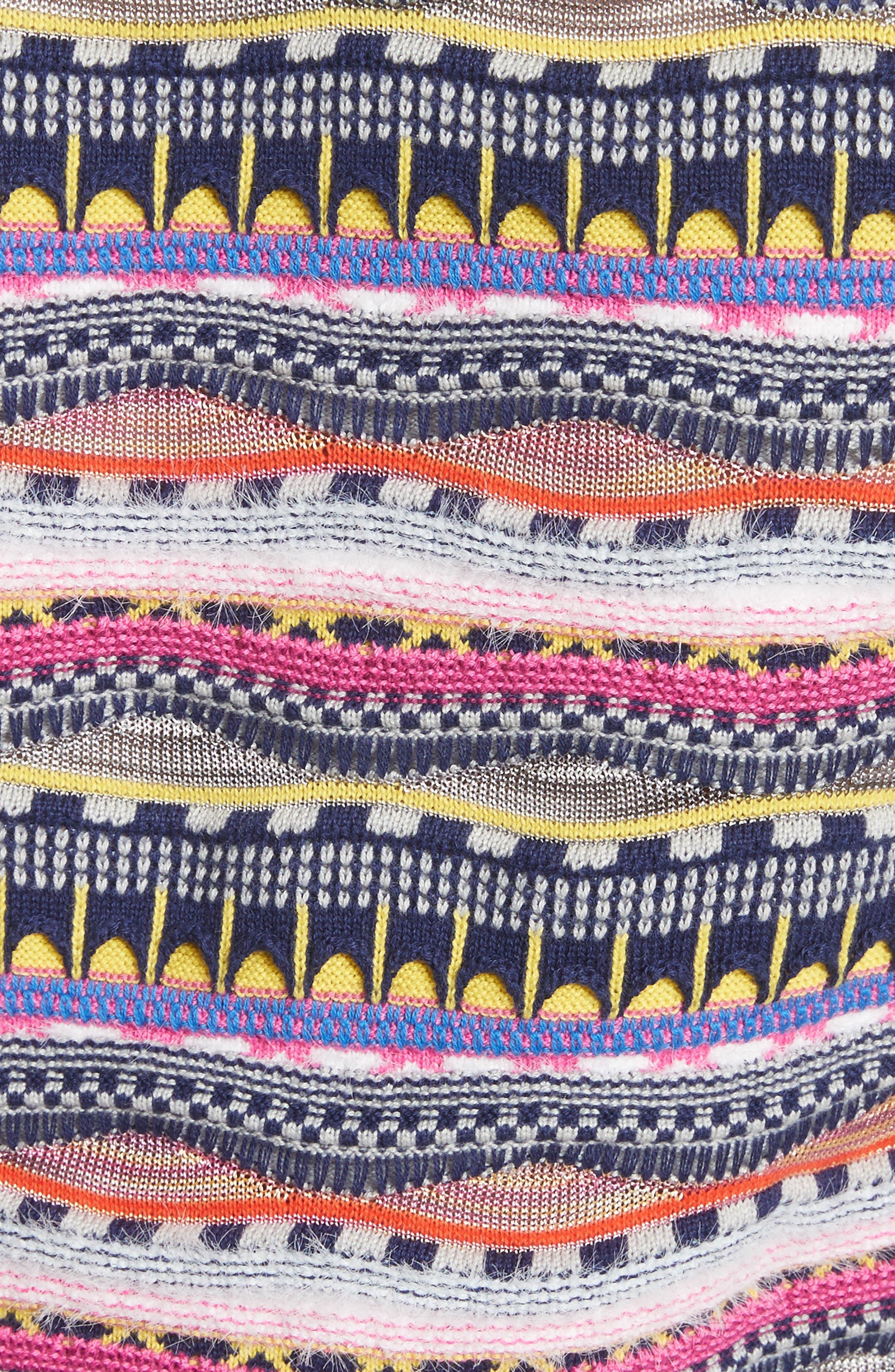 Knit Cotton Blend Sweater,                             Alternate thumbnail 5, color,