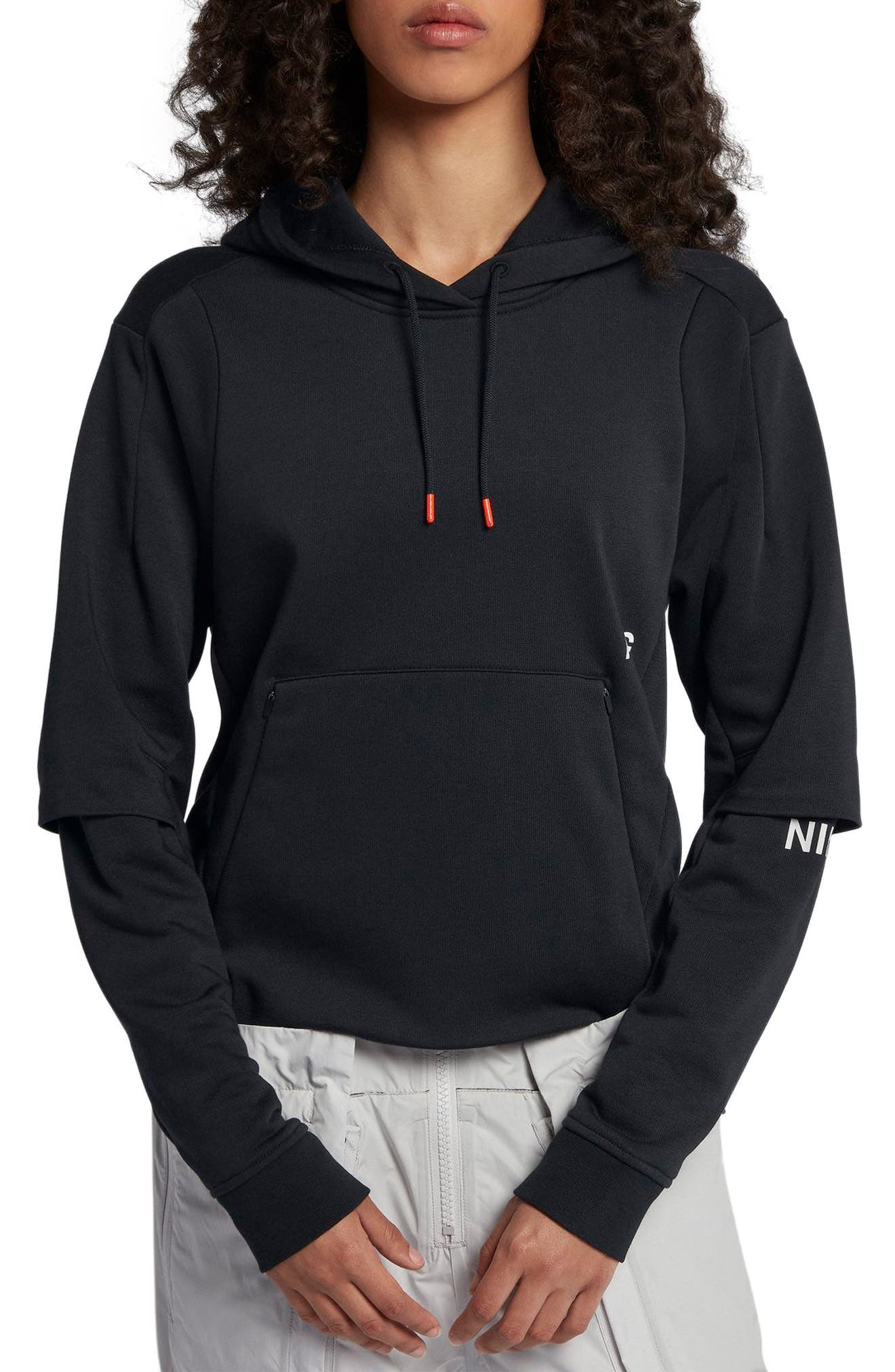 NIKE,                             NikeLab ACG Women's Pullover Hoodie,                             Main thumbnail 1, color,                             010