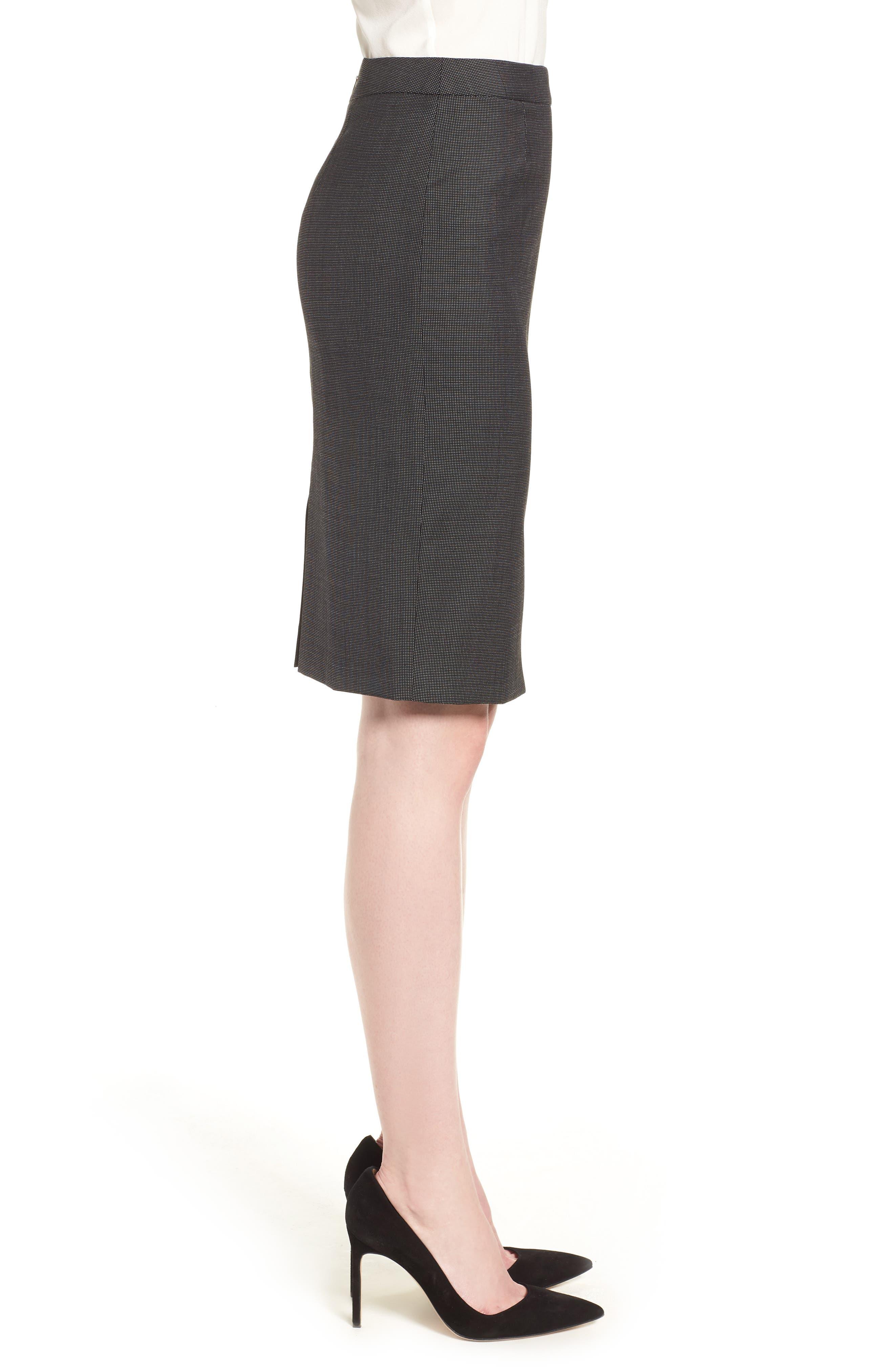 Vimena Stretch Wool Blend Suit Skirt,                             Alternate thumbnail 3, color,                             009