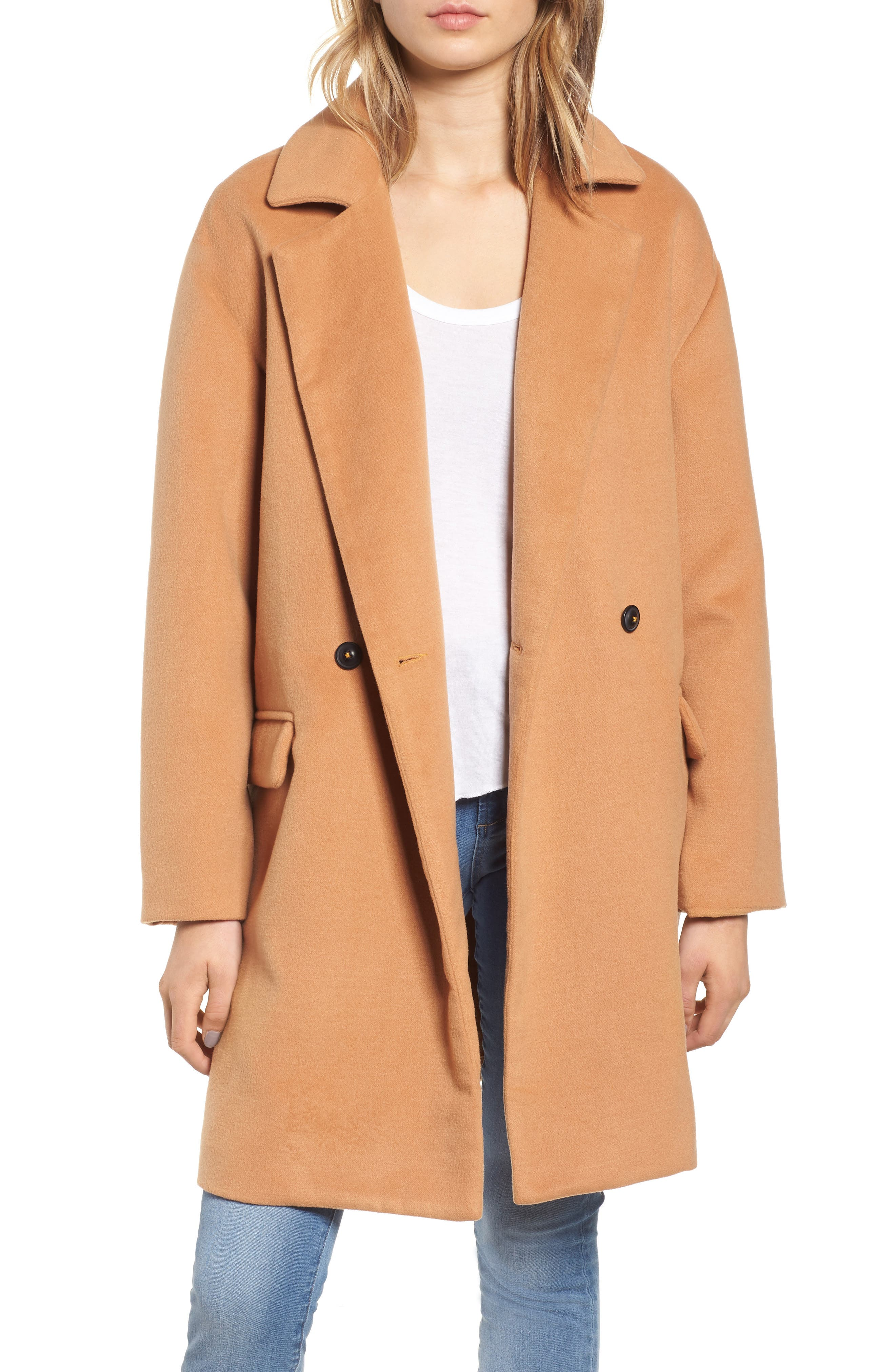 Oversize Double Breasted Coat, Main, color, 230