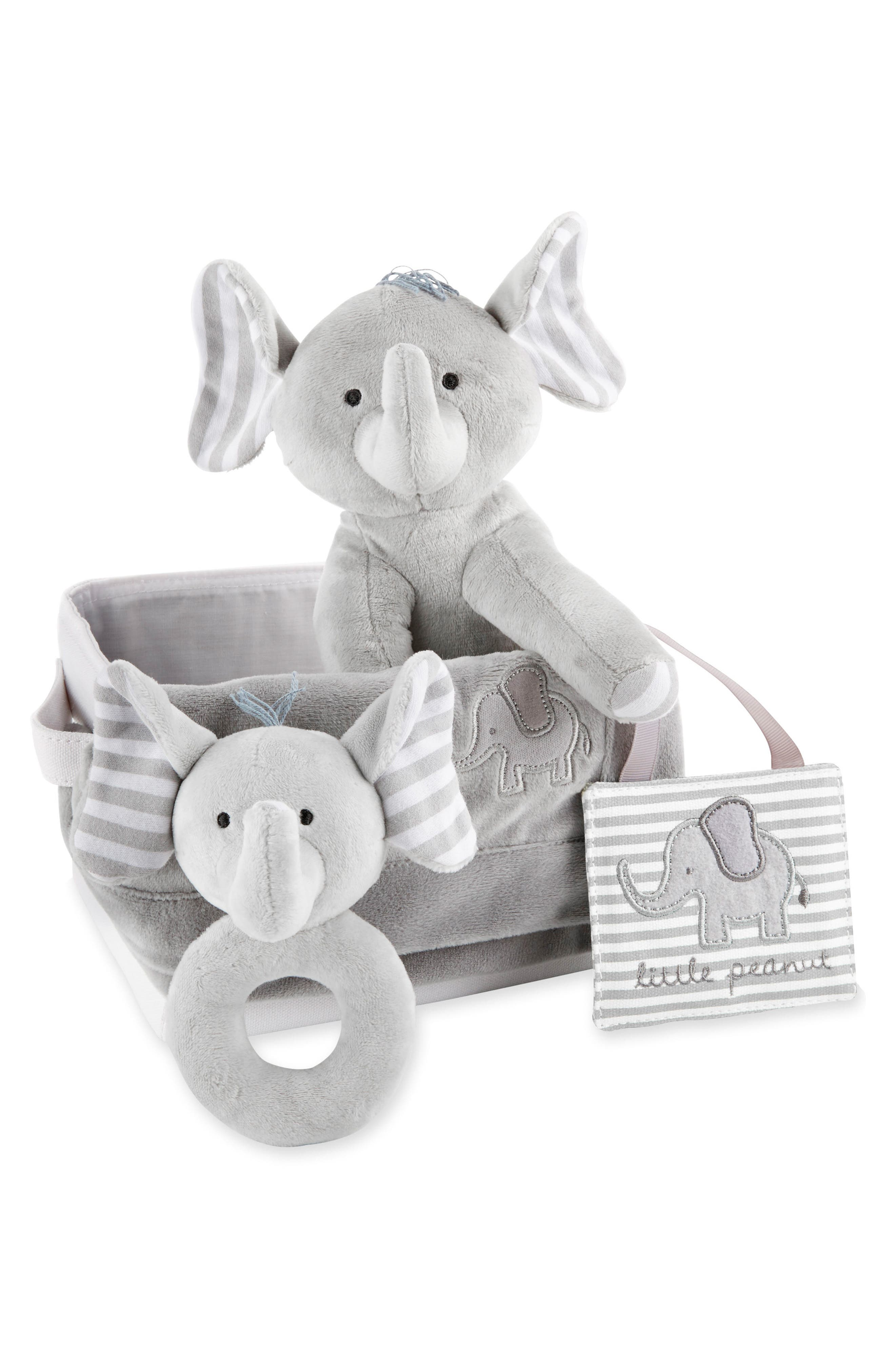 Little Peanut Elephant 5-Piece Gift Set,                             Alternate thumbnail 3, color,                             GREY AND WHITE
