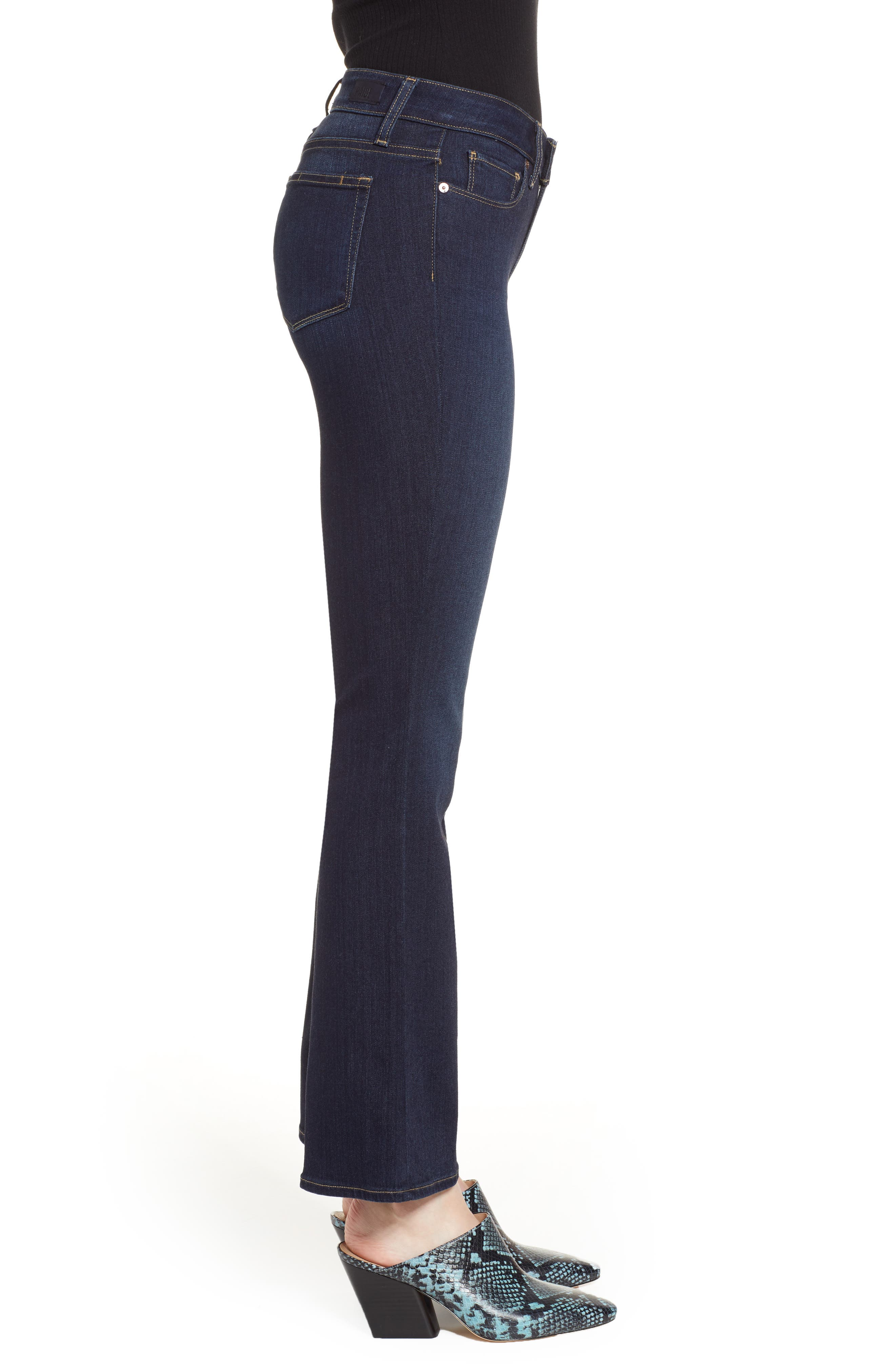 Transcend - Manhattan High Waist Bootcut Jeans,                             Alternate thumbnail 3, color,                             SANIA