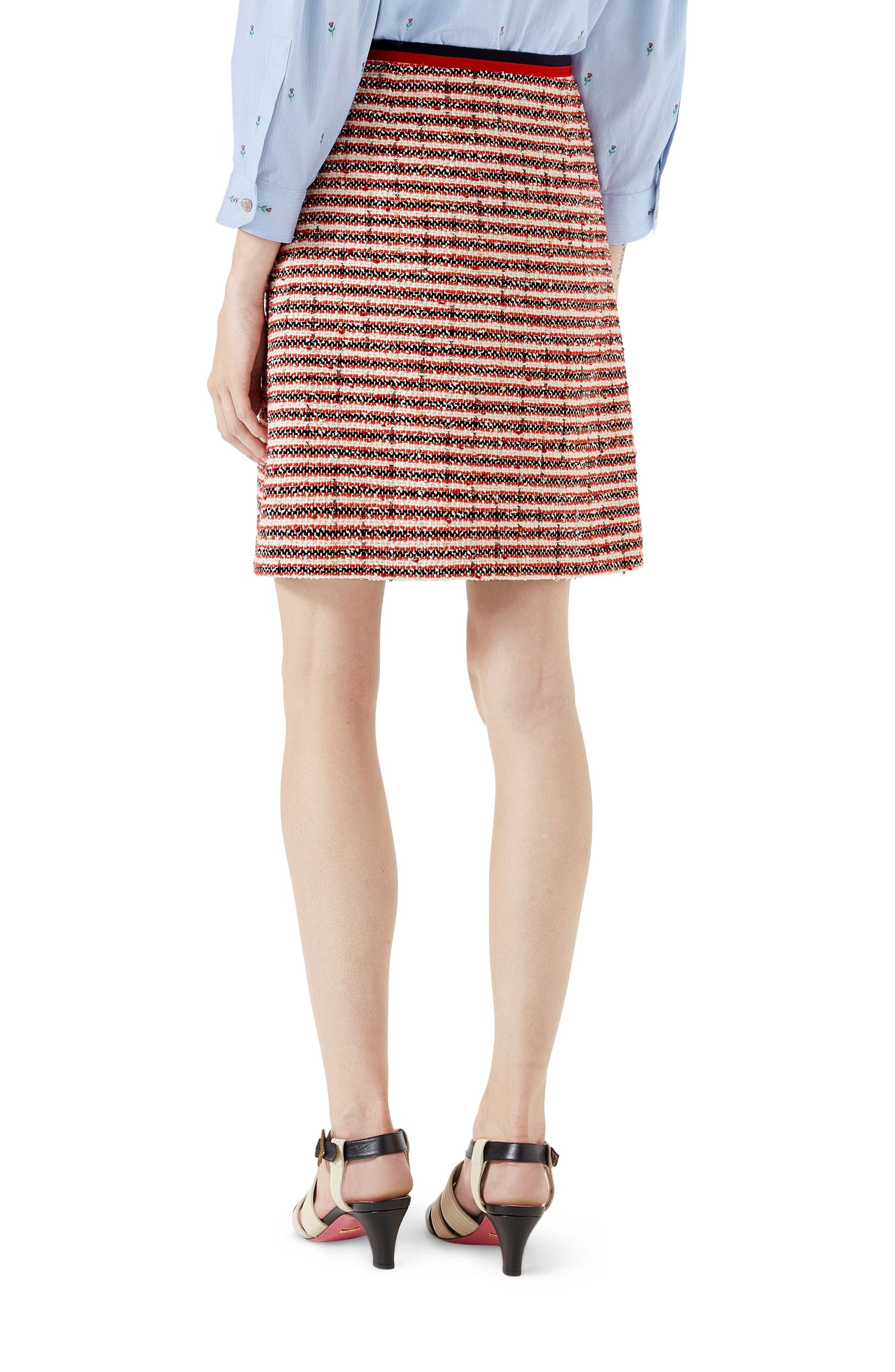 Stripe Tweed A-Line Skirt,                             Alternate thumbnail 2, color,                             108