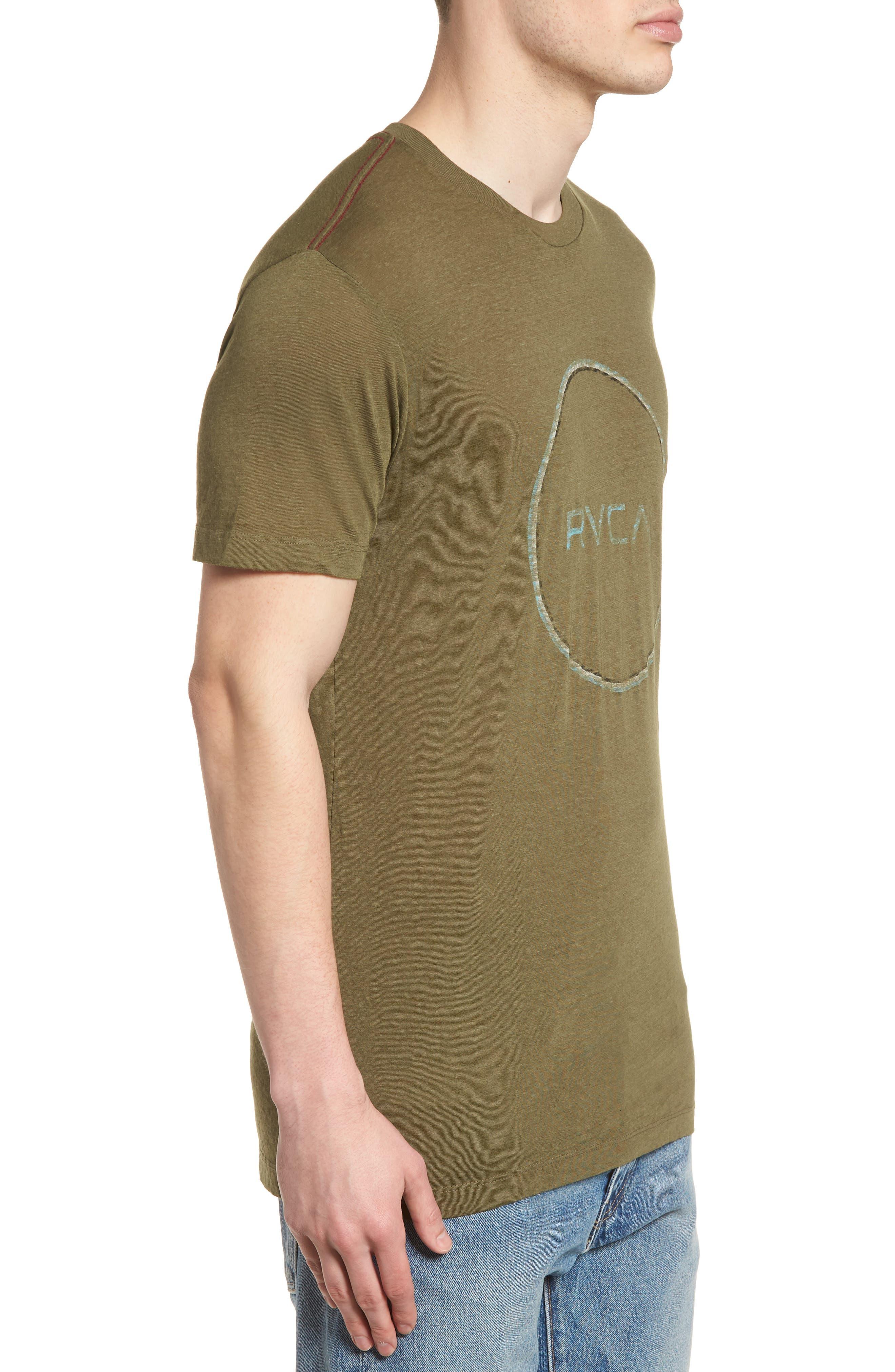 Tri Motors Burnout Graphic T-Shirt,                             Alternate thumbnail 3, color,                             340