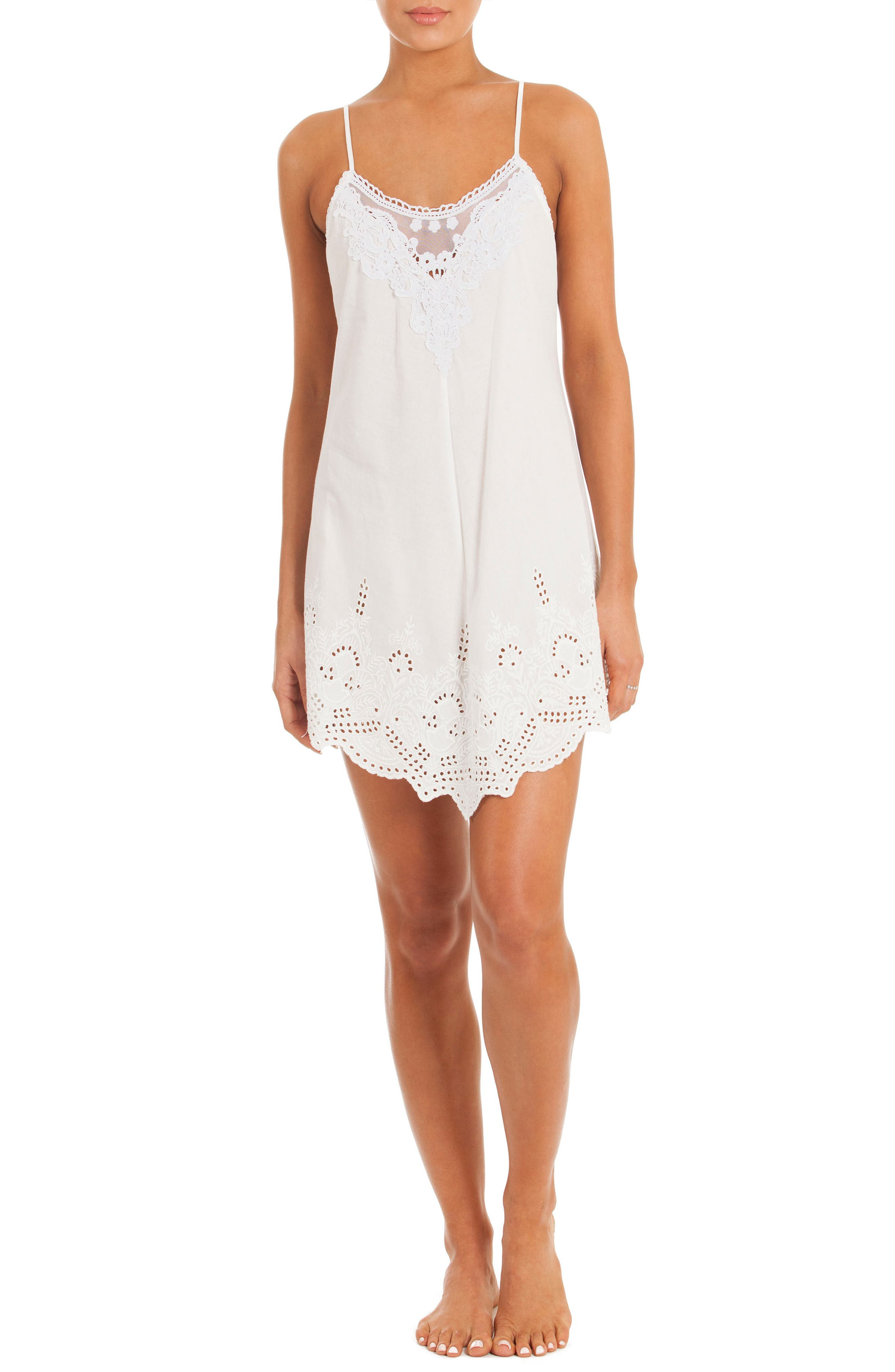 Eyelet Chemise,                             Alternate thumbnail 5, color,                             100