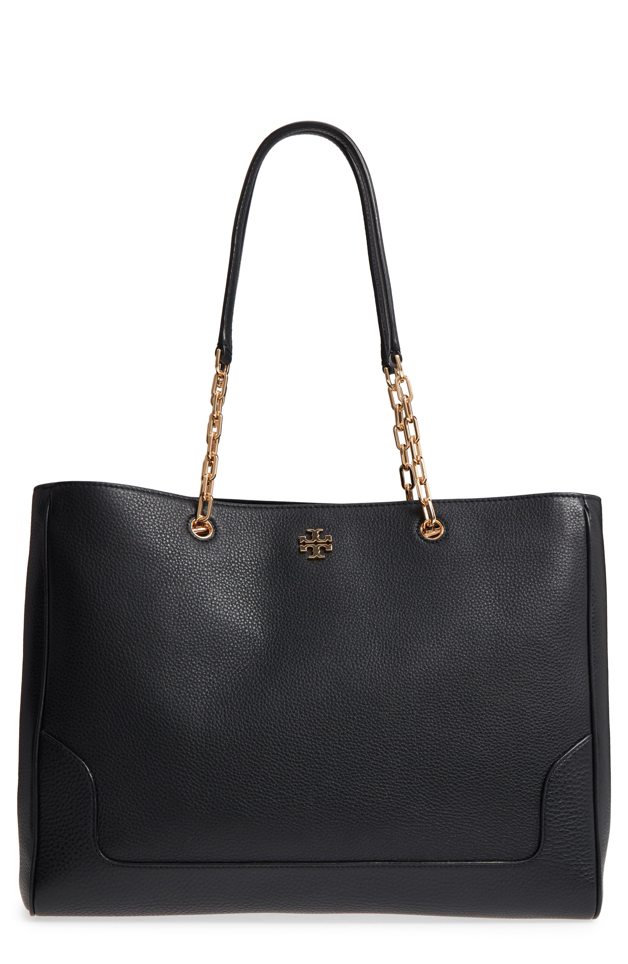 Marsden Pebbled Leather Tote,                         Main,                         color, 001