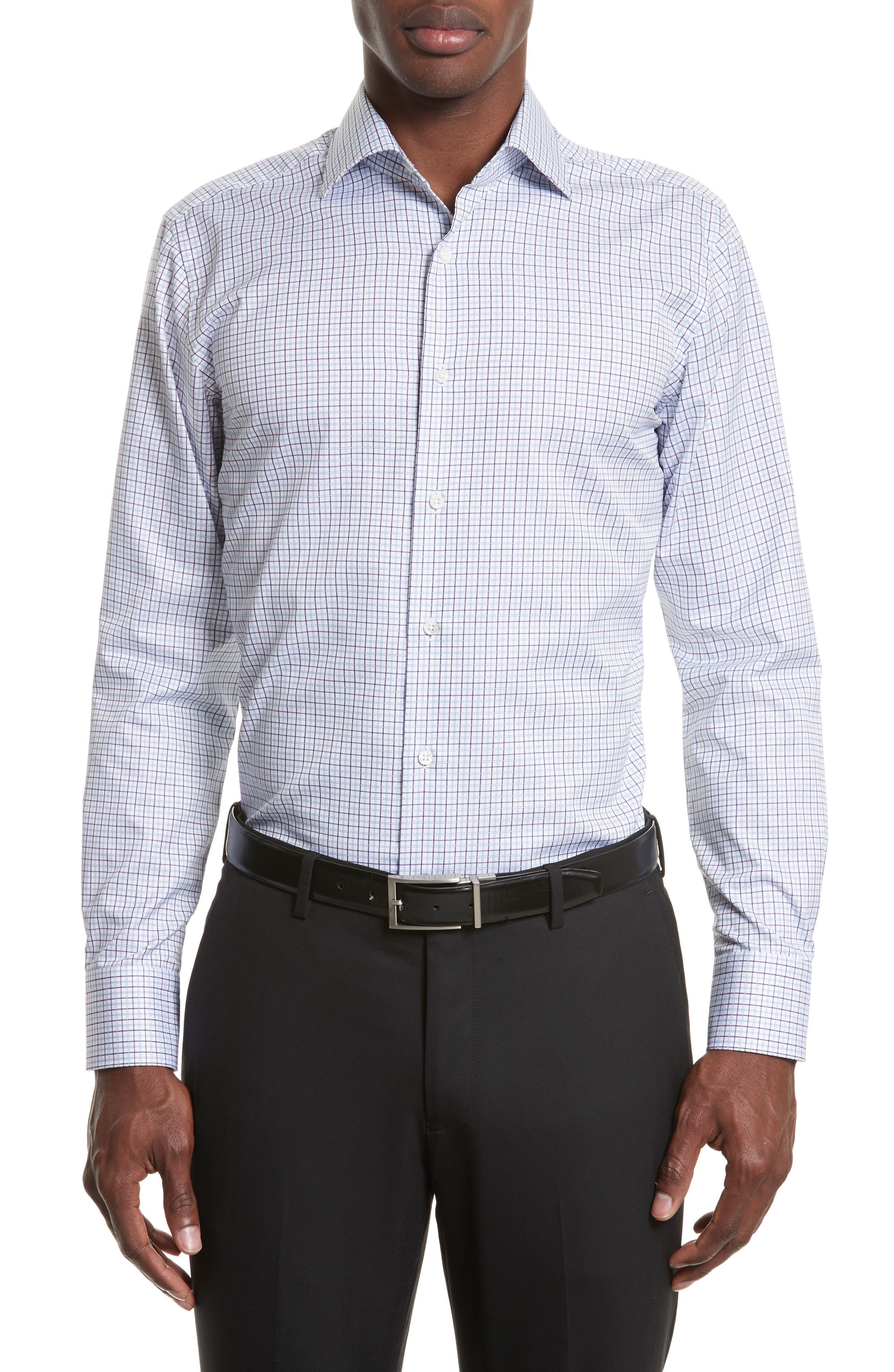 Regular Fit Check Dress Shirt,                             Main thumbnail 1, color,                             540