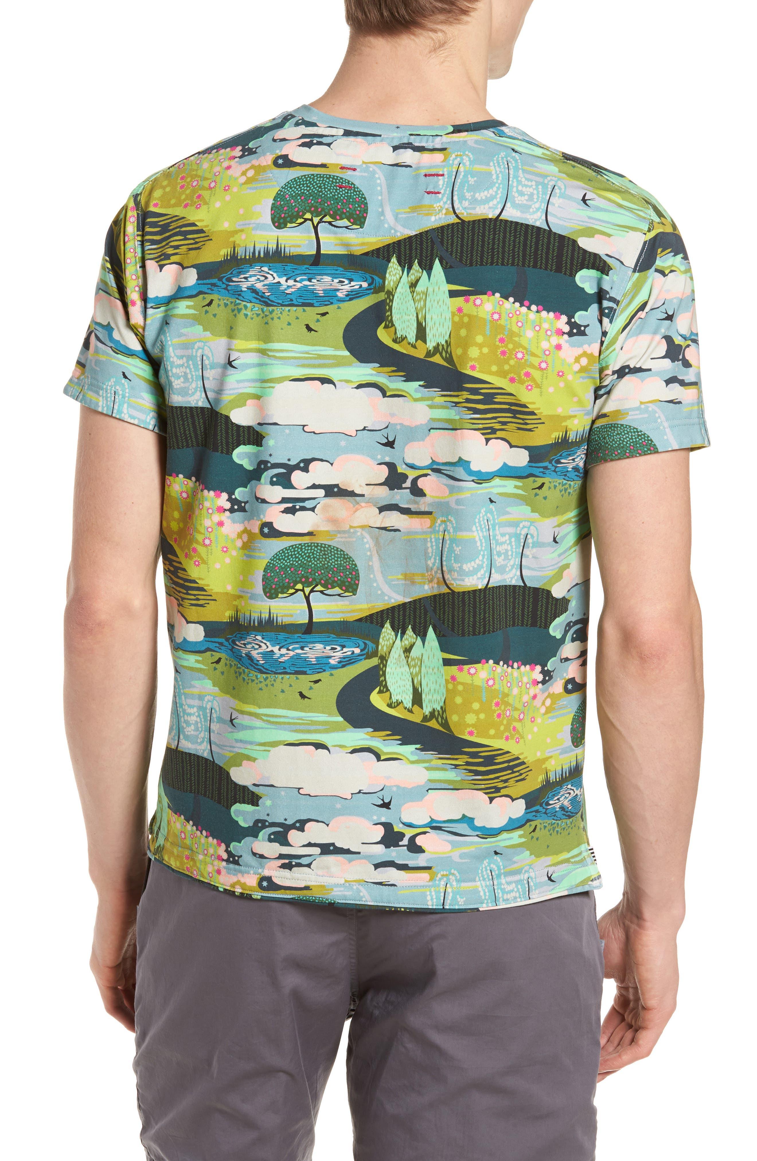 Dream Print T-Shirt,                             Alternate thumbnail 2, color,                             400