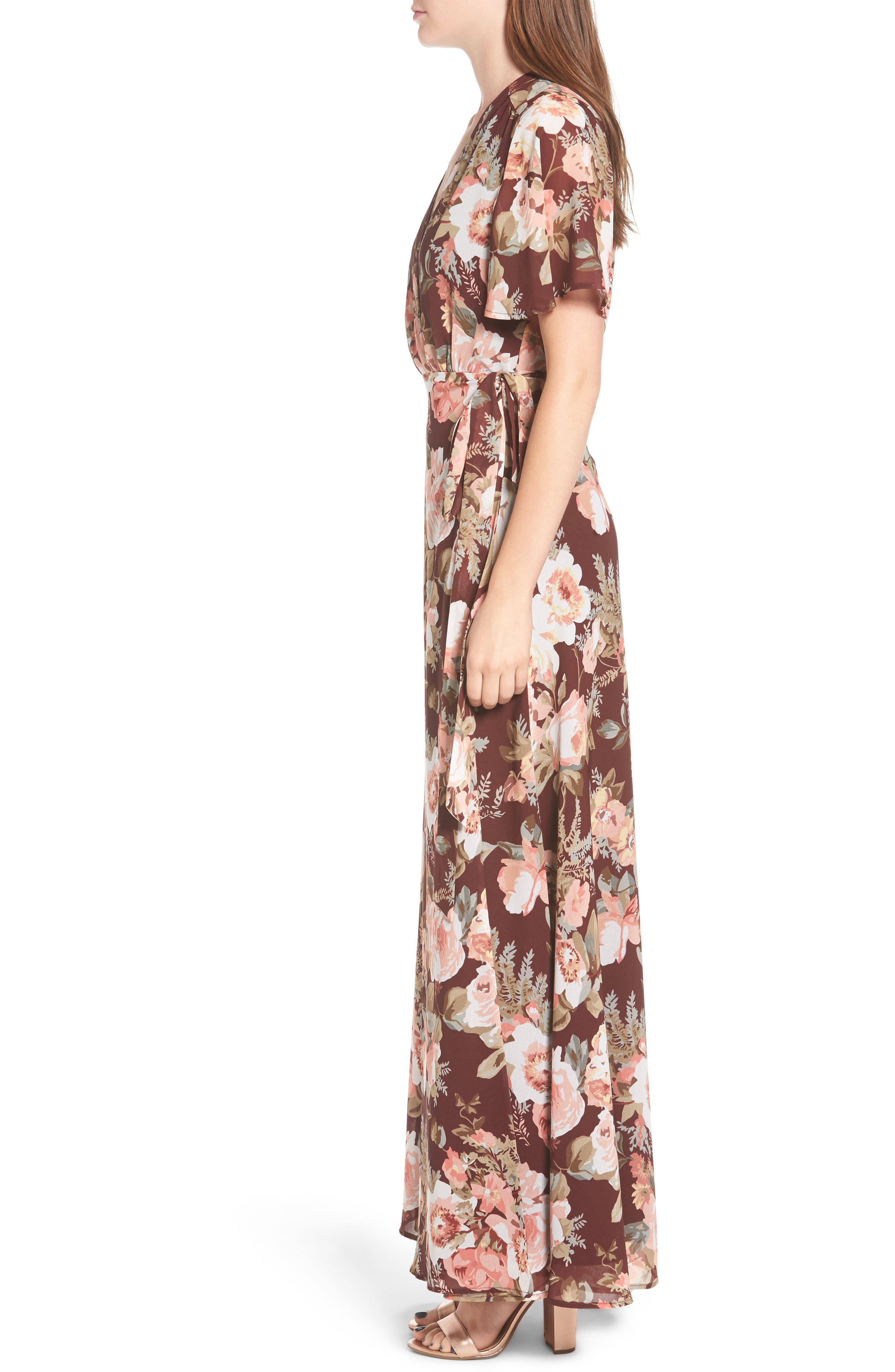 Plaza Wrap Maxi Dress,                             Alternate thumbnail 6, color,