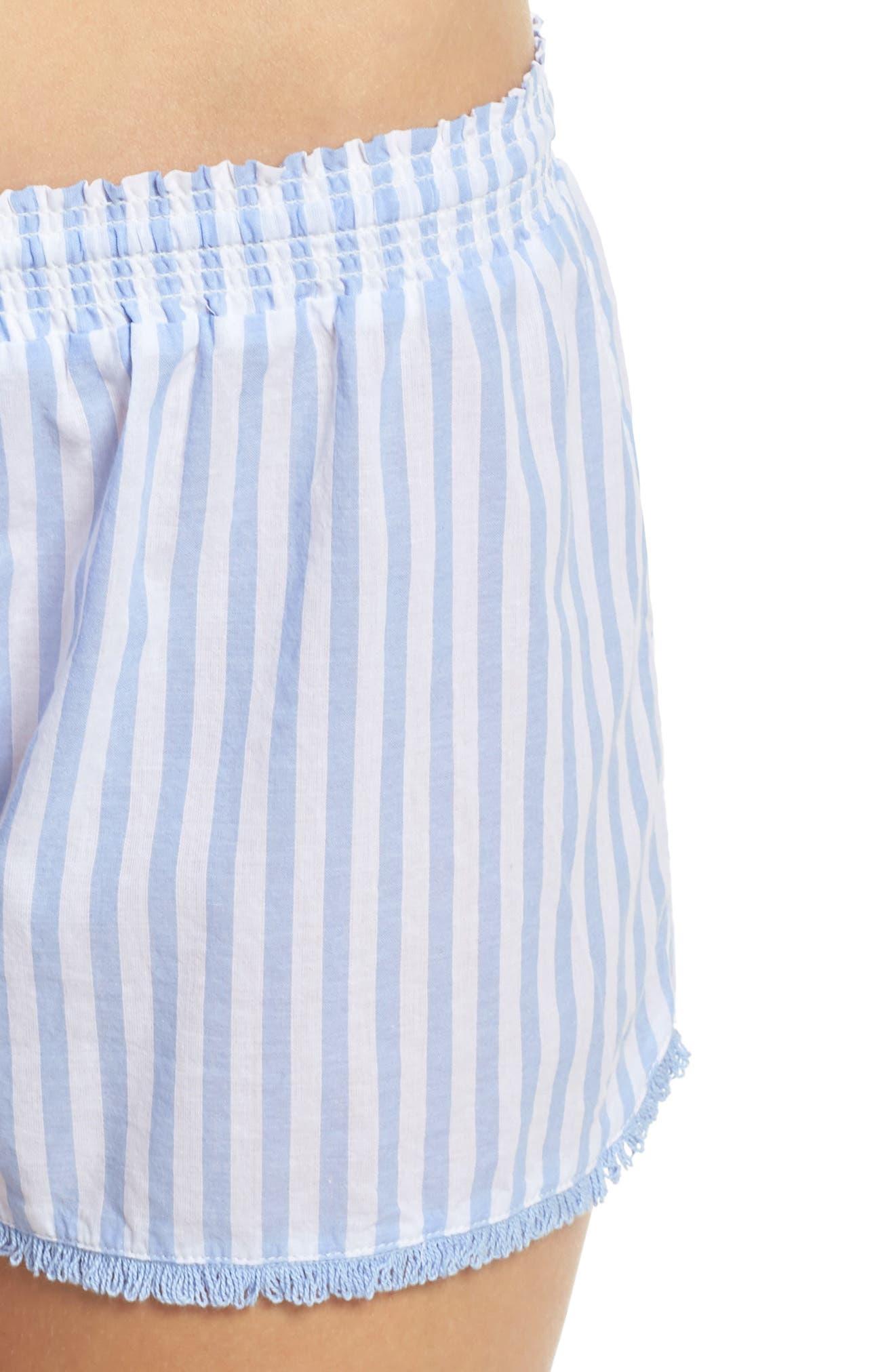 Stripe Short Pajamas,                             Alternate thumbnail 4, color,                             100