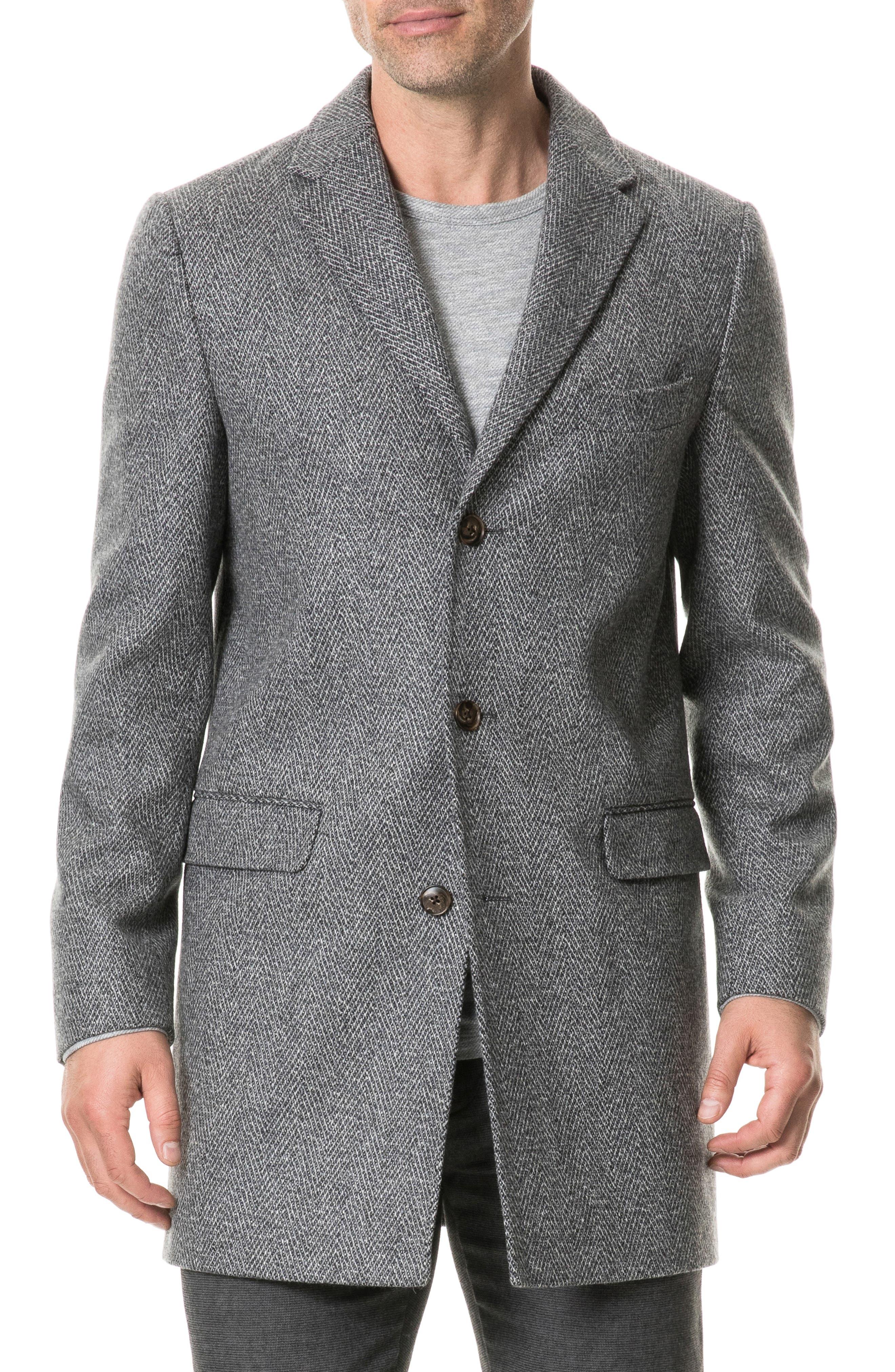 Men's Rodd & Gunn Mcgowans Place Wool Blend Coat, Size X-Large - Grey