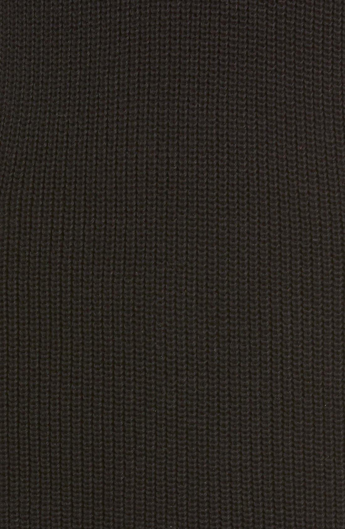 BP.,                             Shaker Stitch Sweater Dress,                             Alternate thumbnail 5, color,                             001