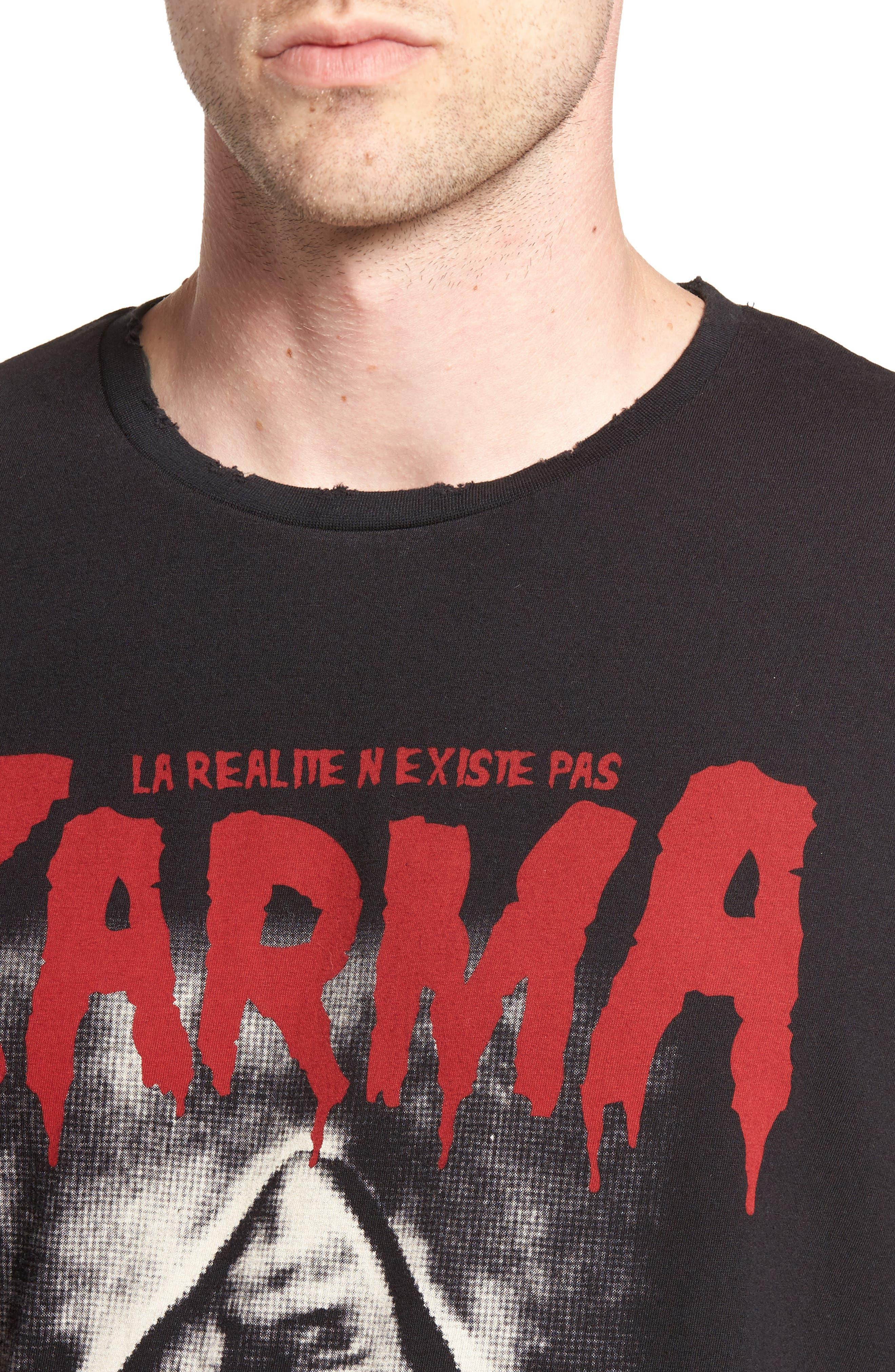 Karma Shark T-Shirt,                             Alternate thumbnail 4, color,                             002