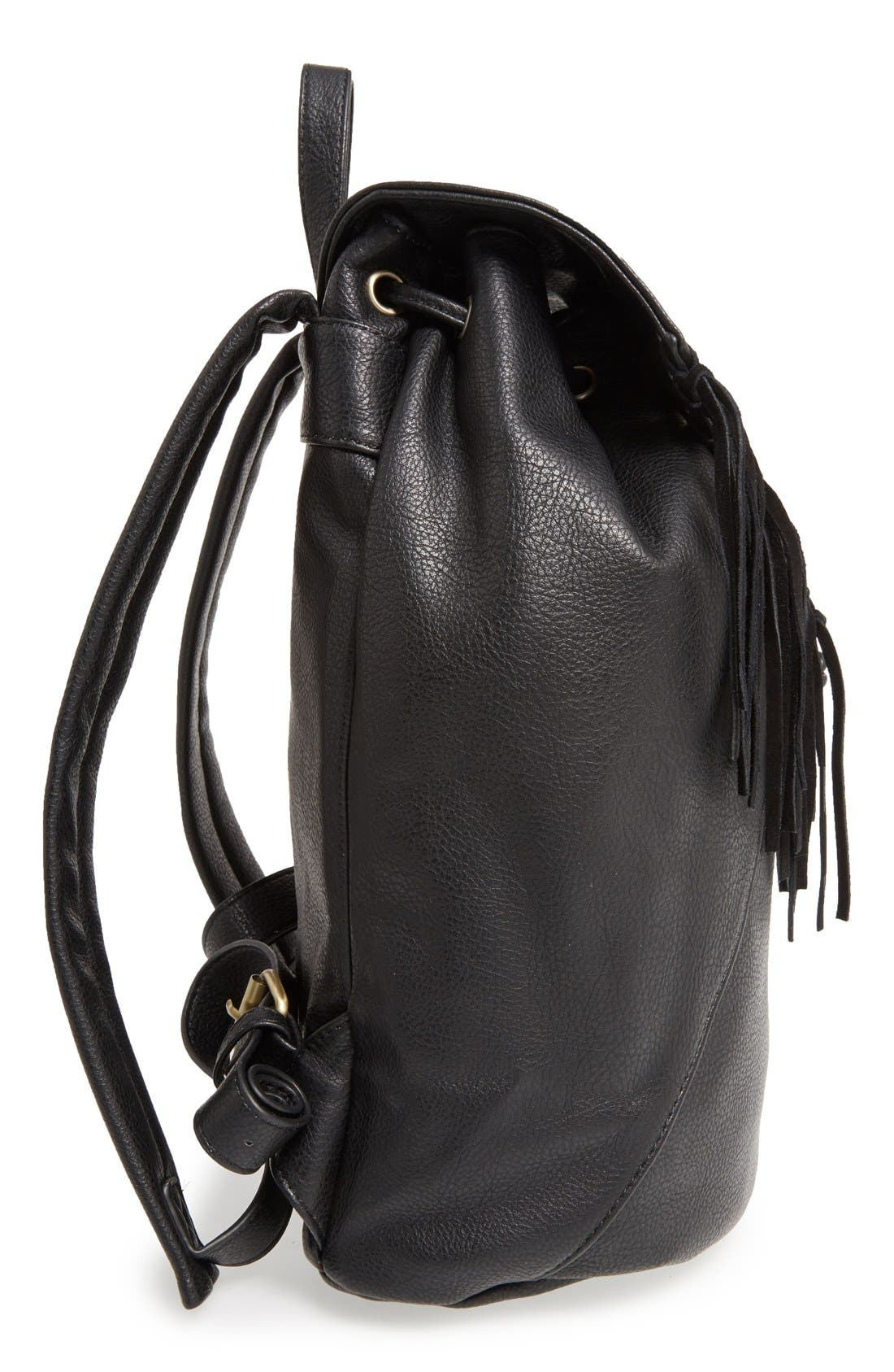 'Hartley' Faux Leather Backpack,                             Alternate thumbnail 5, color,                             001