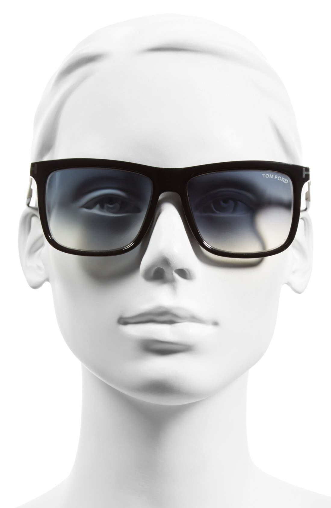 'Karlie' 57mm Retro Sunglasses,                             Alternate thumbnail 2, color,                             001