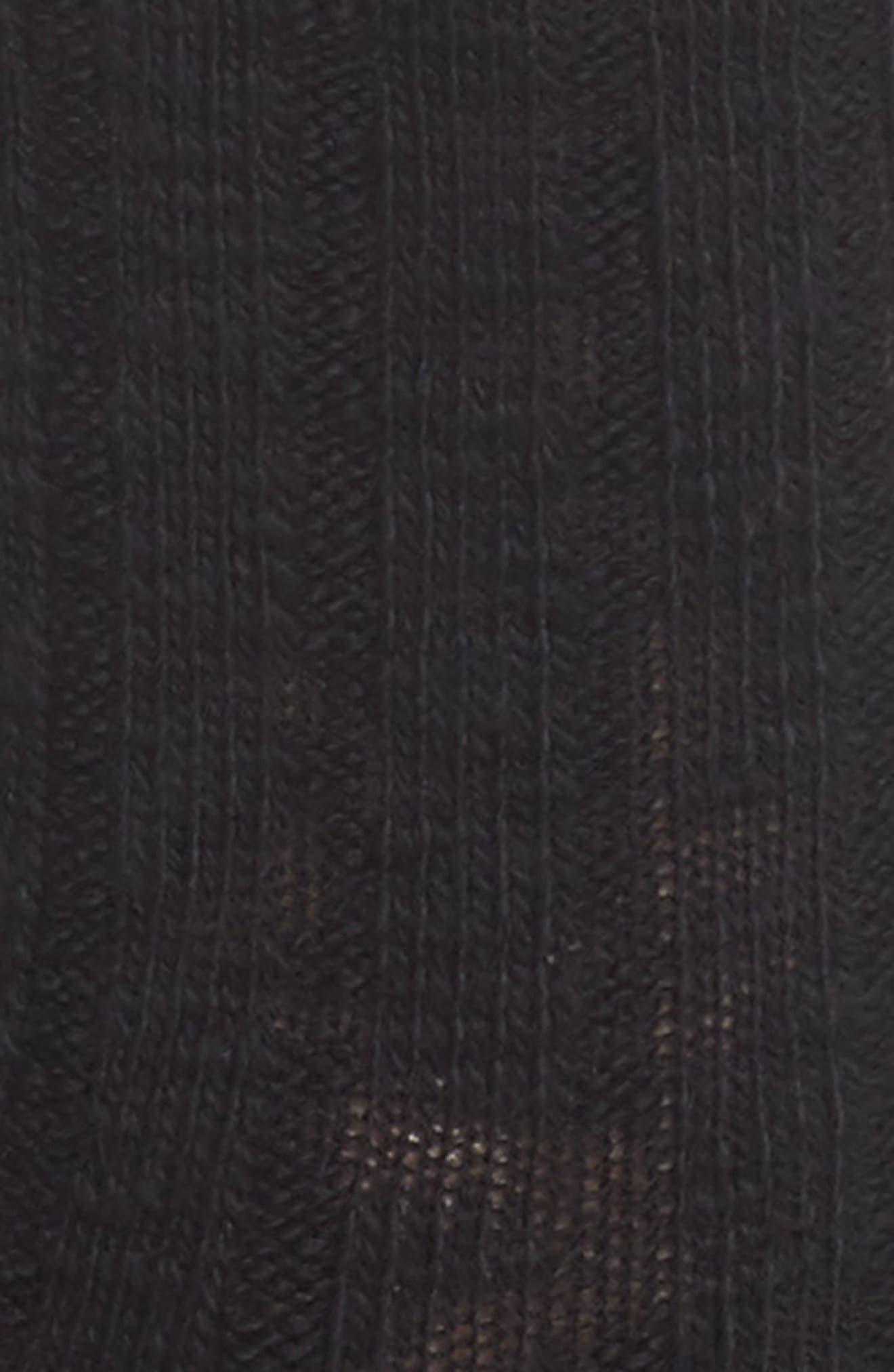 Boot Socks,                             Alternate thumbnail 2, color,                             BLACK SOLID
