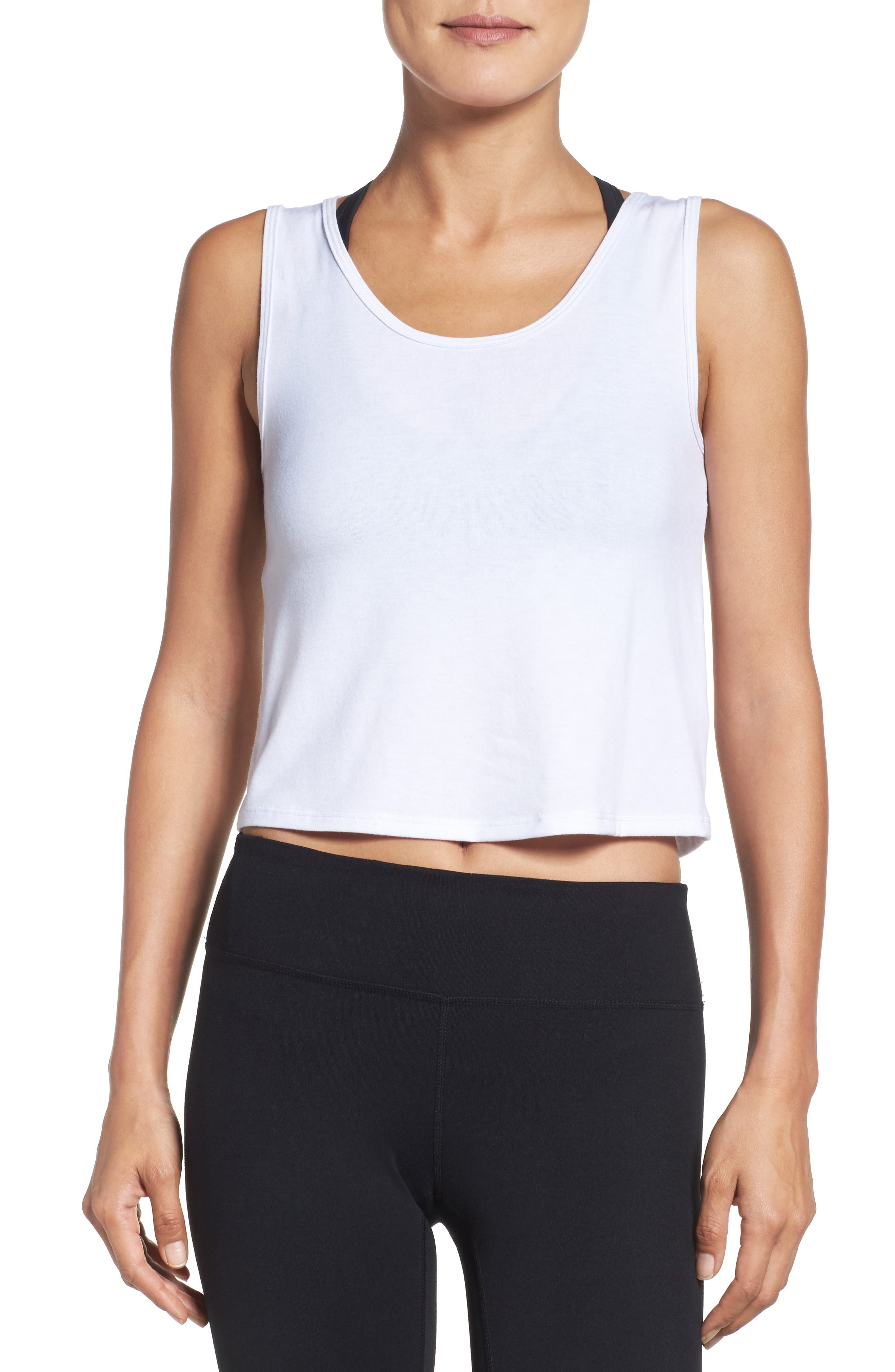 Crop Top,                         Main,                         color, WHITE
