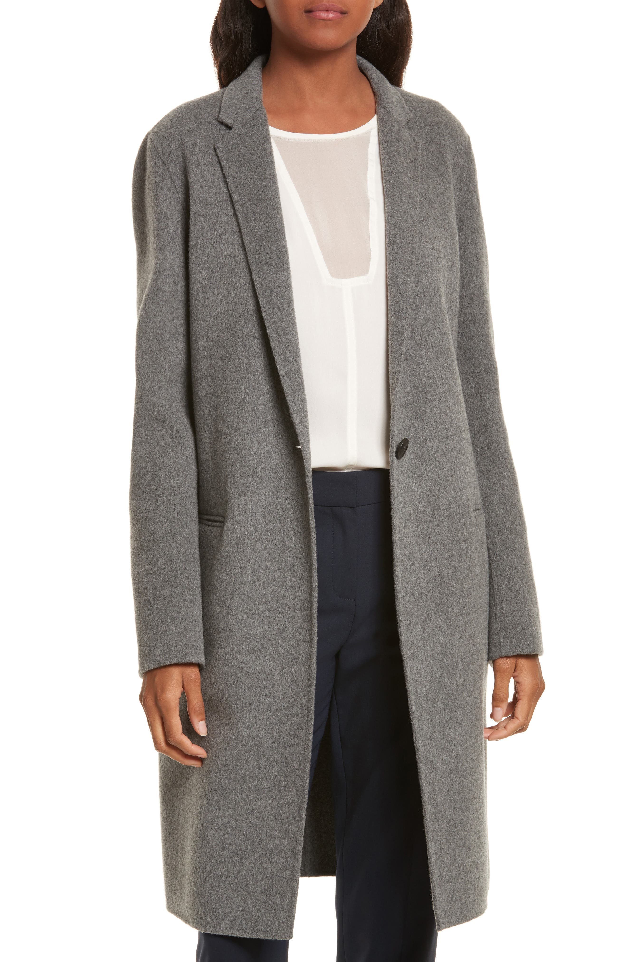 New Divide Wool & Cashmere Coat, Main, color, 021