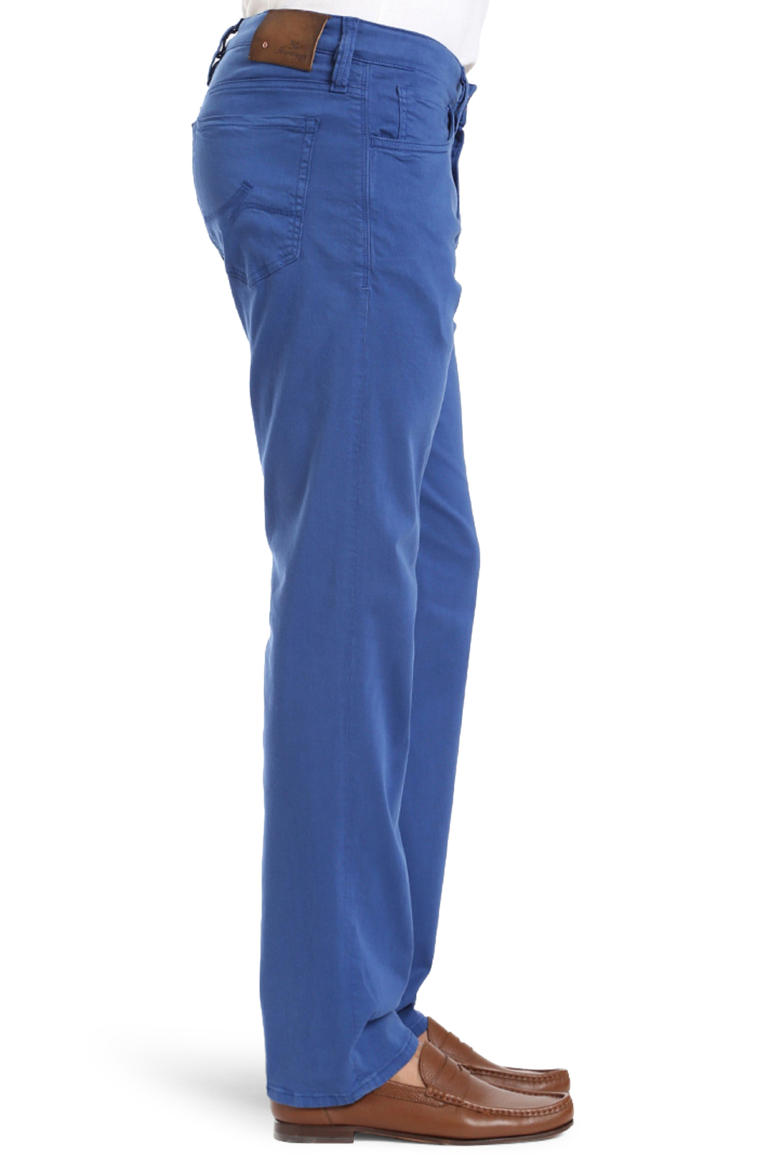 Courage Straight Leg Twill Pants,                             Alternate thumbnail 3, color,                             BLUE