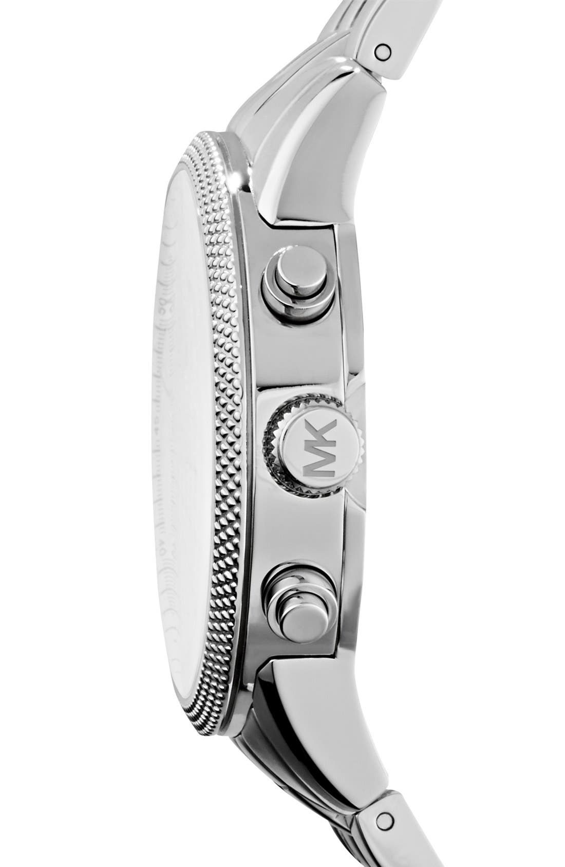Michael Kors Knurling Edge Stainless Steel Watch, 42mm,                             Alternate thumbnail 4, color,