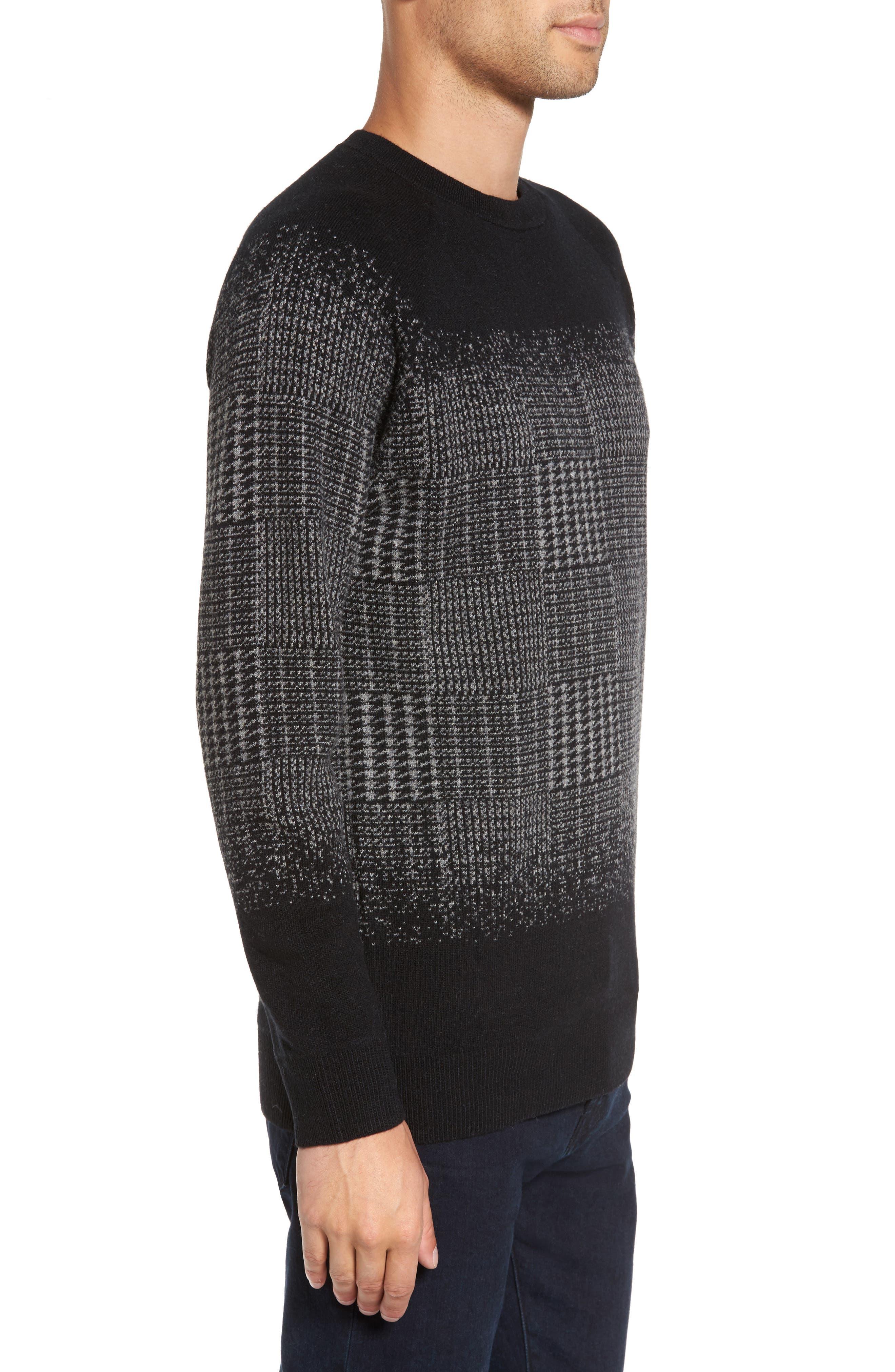Block Pattern Wool Sweater,                             Alternate thumbnail 3, color,                             016