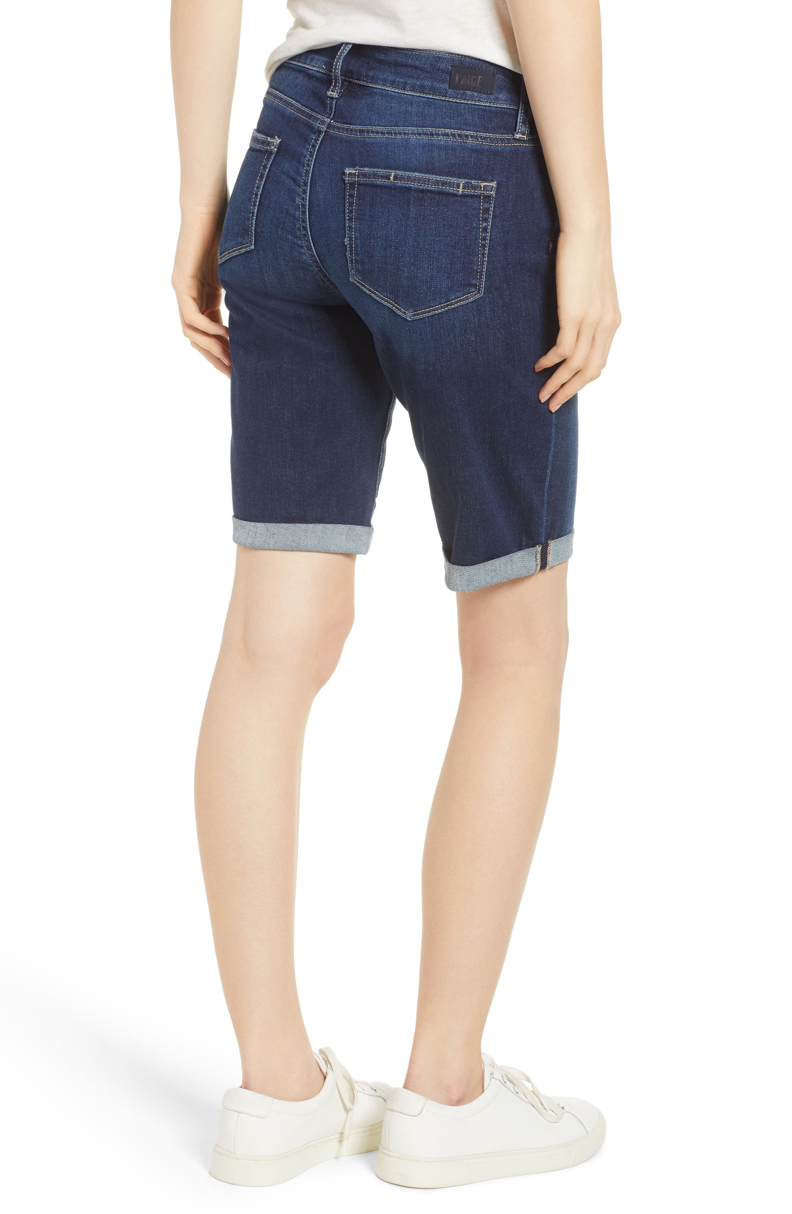 Transcend Vintage - Jax Denim Bermuda Shorts,                             Alternate thumbnail 2, color,                             400