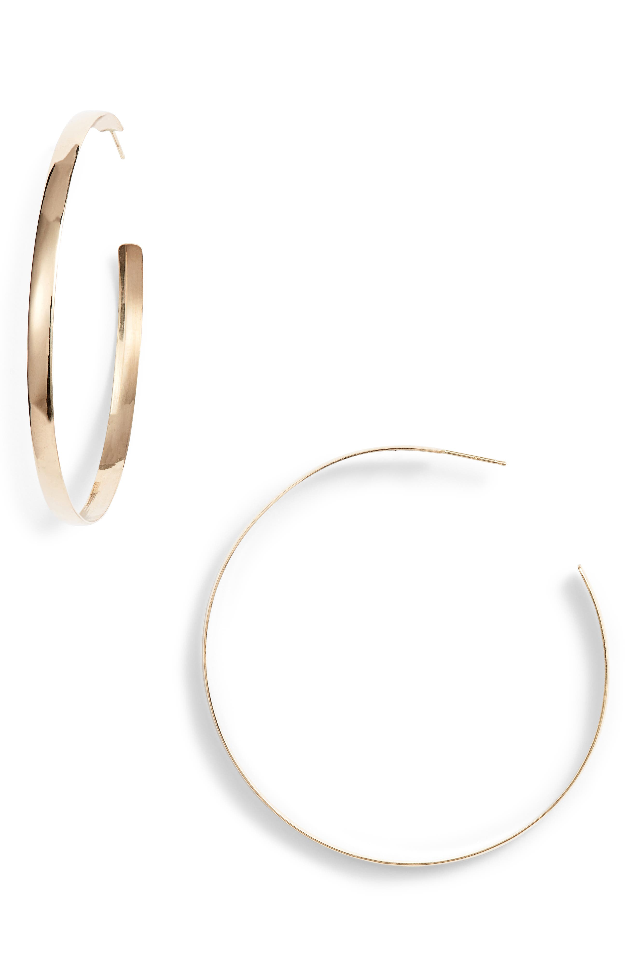 Curve Bubble Hoops,                         Main,                         color, YELLOW GOLD