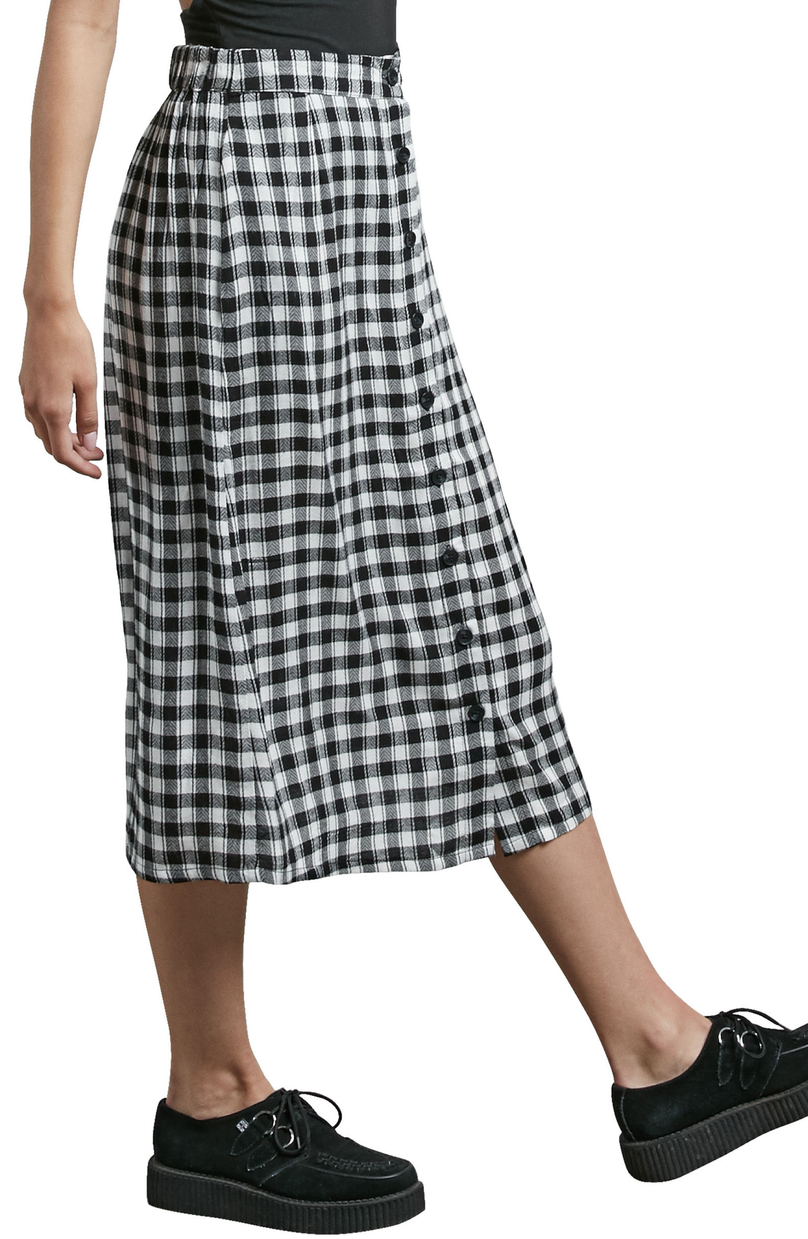 Get To Steppin Midi Skirt,                             Alternate thumbnail 3, color,                             001