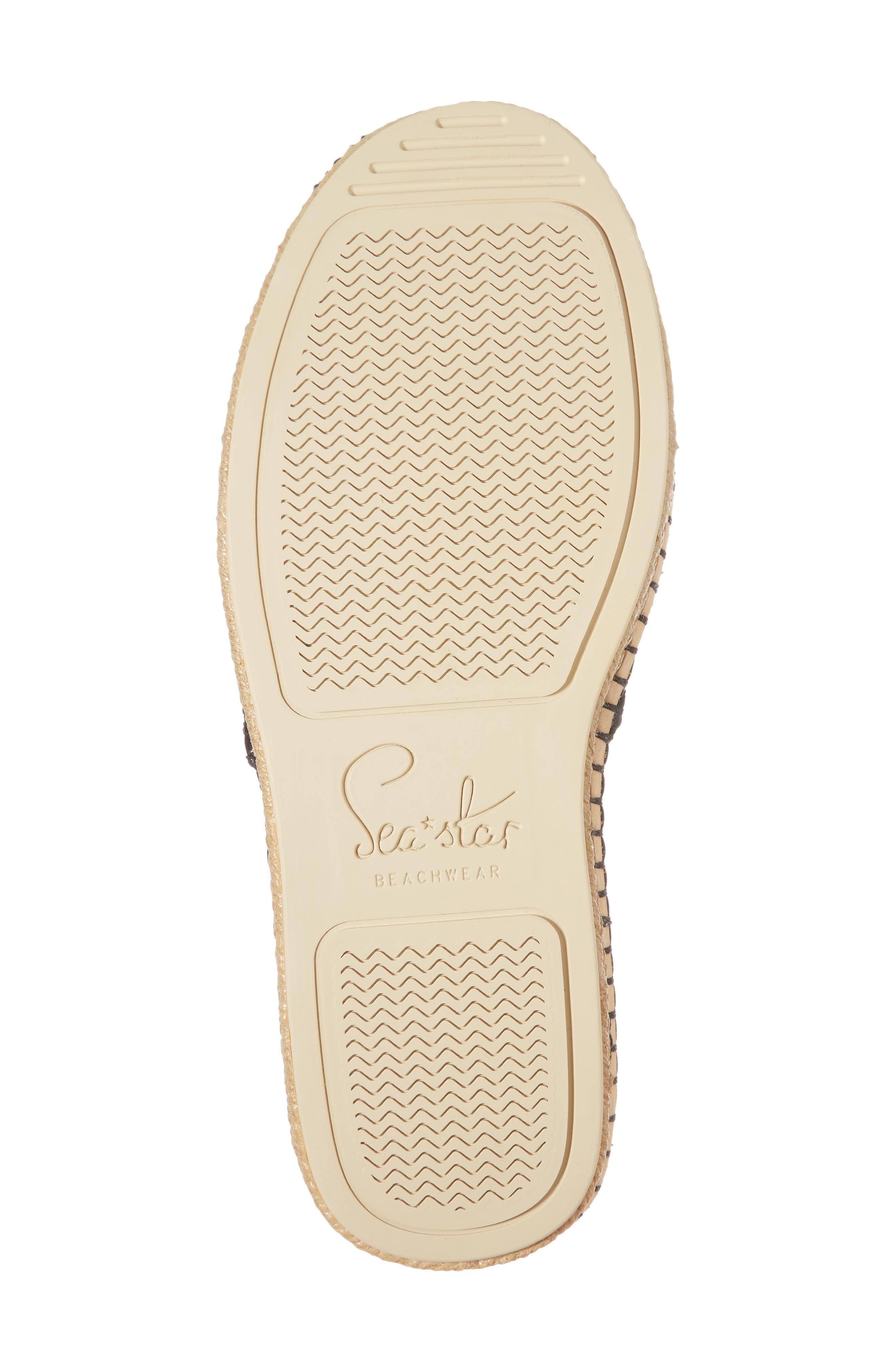 Sea Star Beachcomber Espadrille Sandal,                             Alternate thumbnail 6, color,                             BLACK EYELET