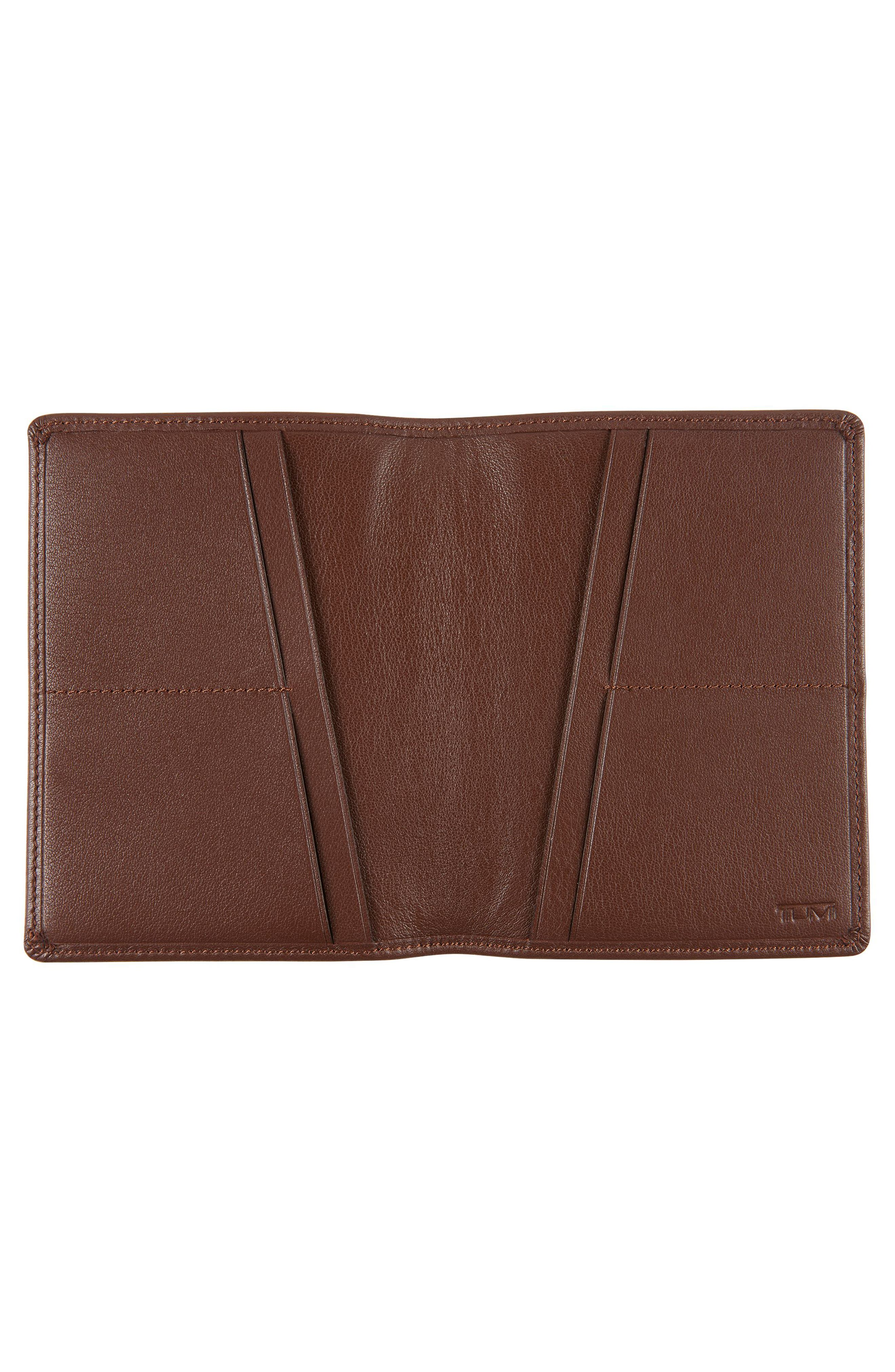 Leather Passport Cover,                             Alternate thumbnail 4, color,
