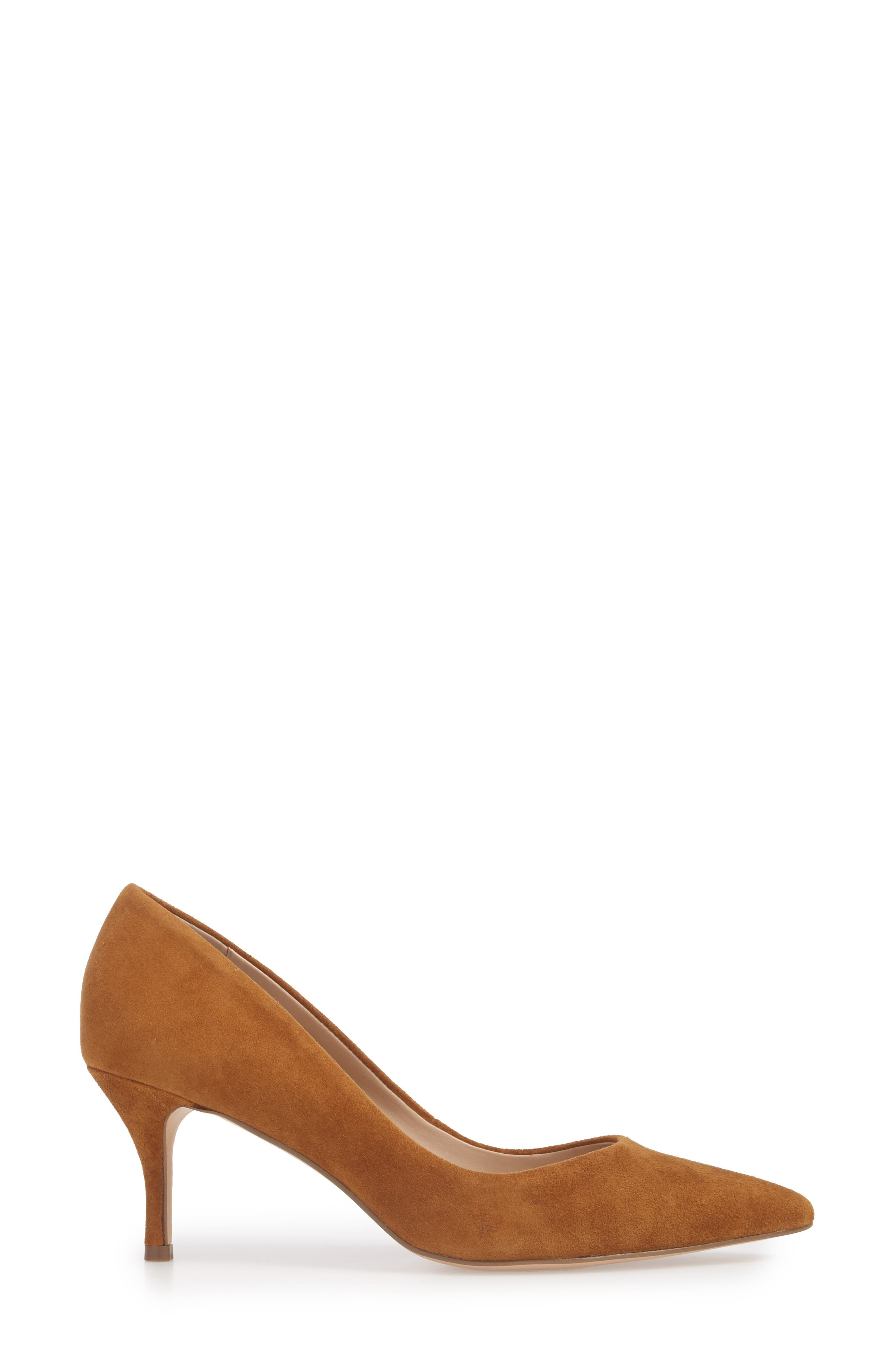Addie Pump,                             Alternate thumbnail 3, color,                             AMBER SUEDE