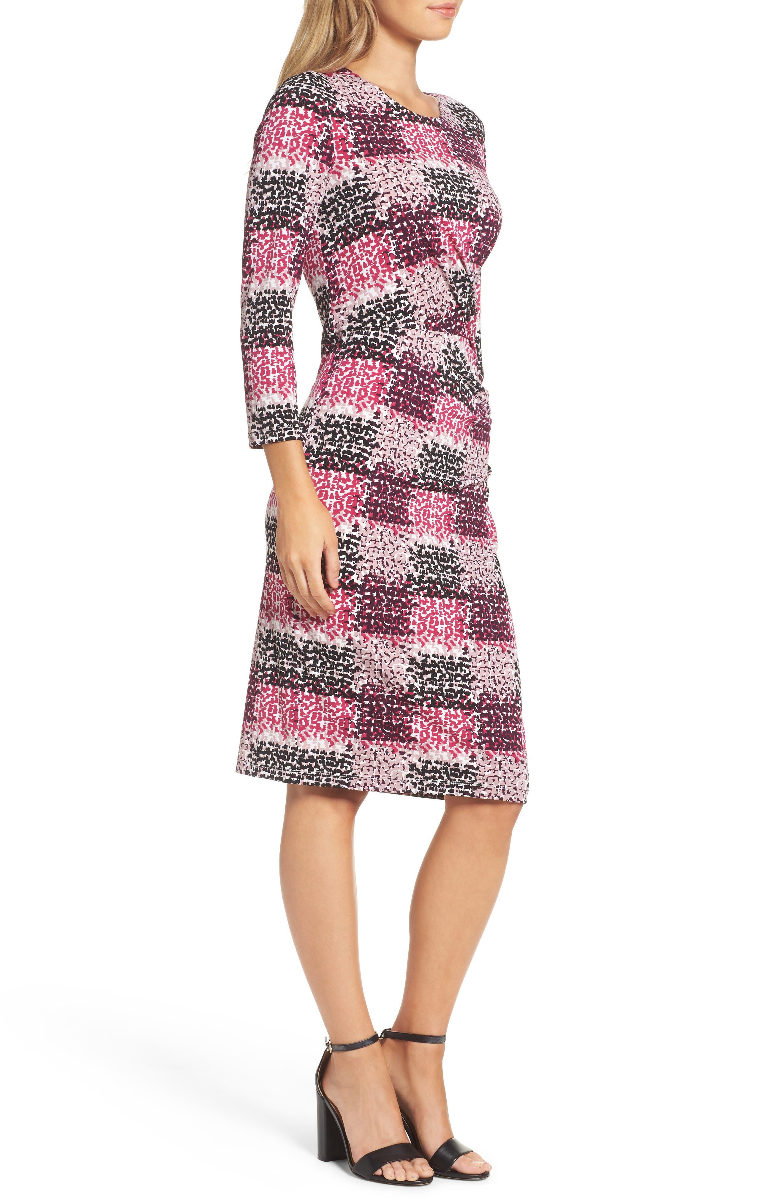 Jersey Sheath Dress,                             Alternate thumbnail 3, color,                             405