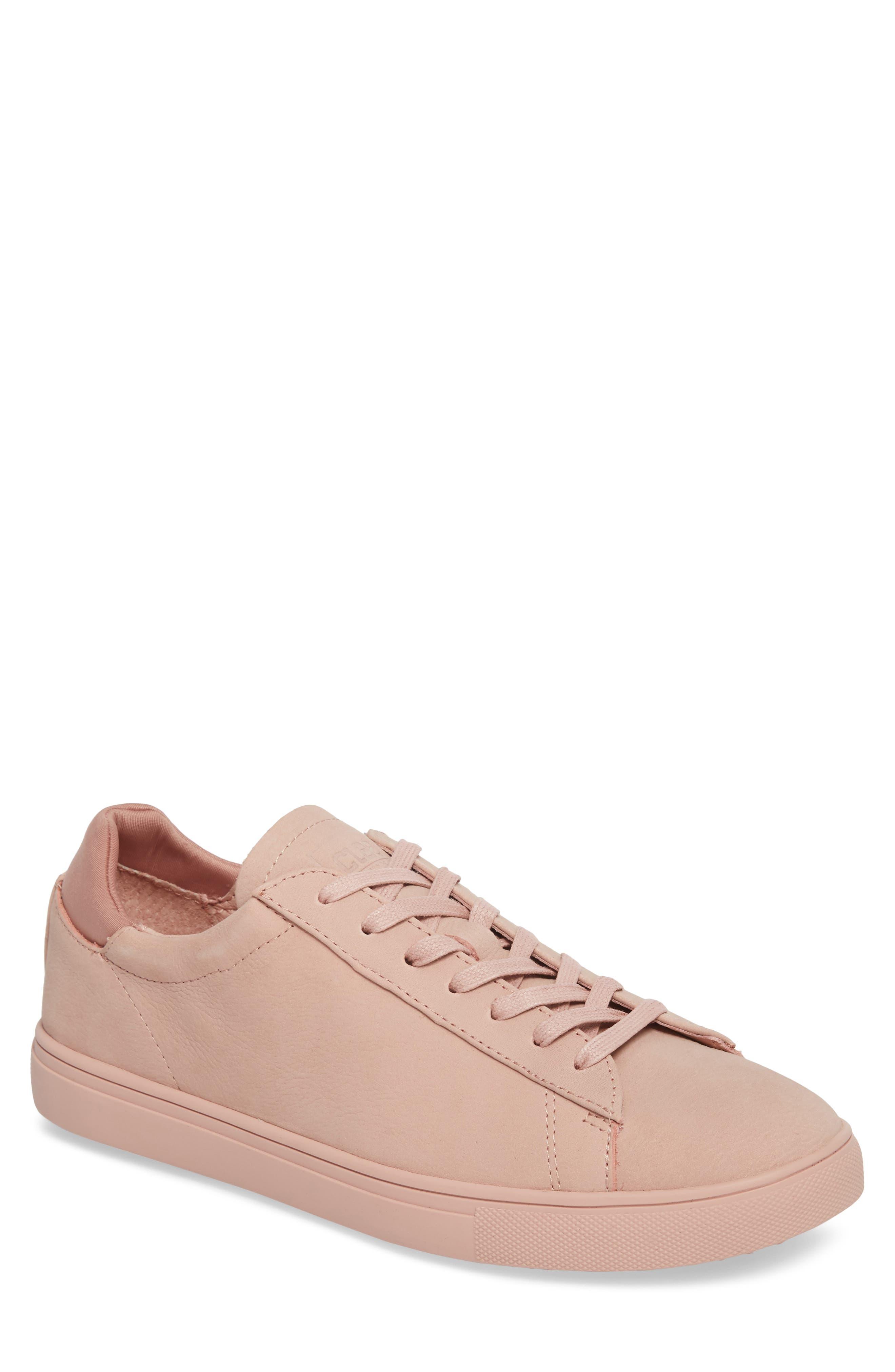 'Bradley' Sneaker,                         Main,                         color, ROSE NUBUCK