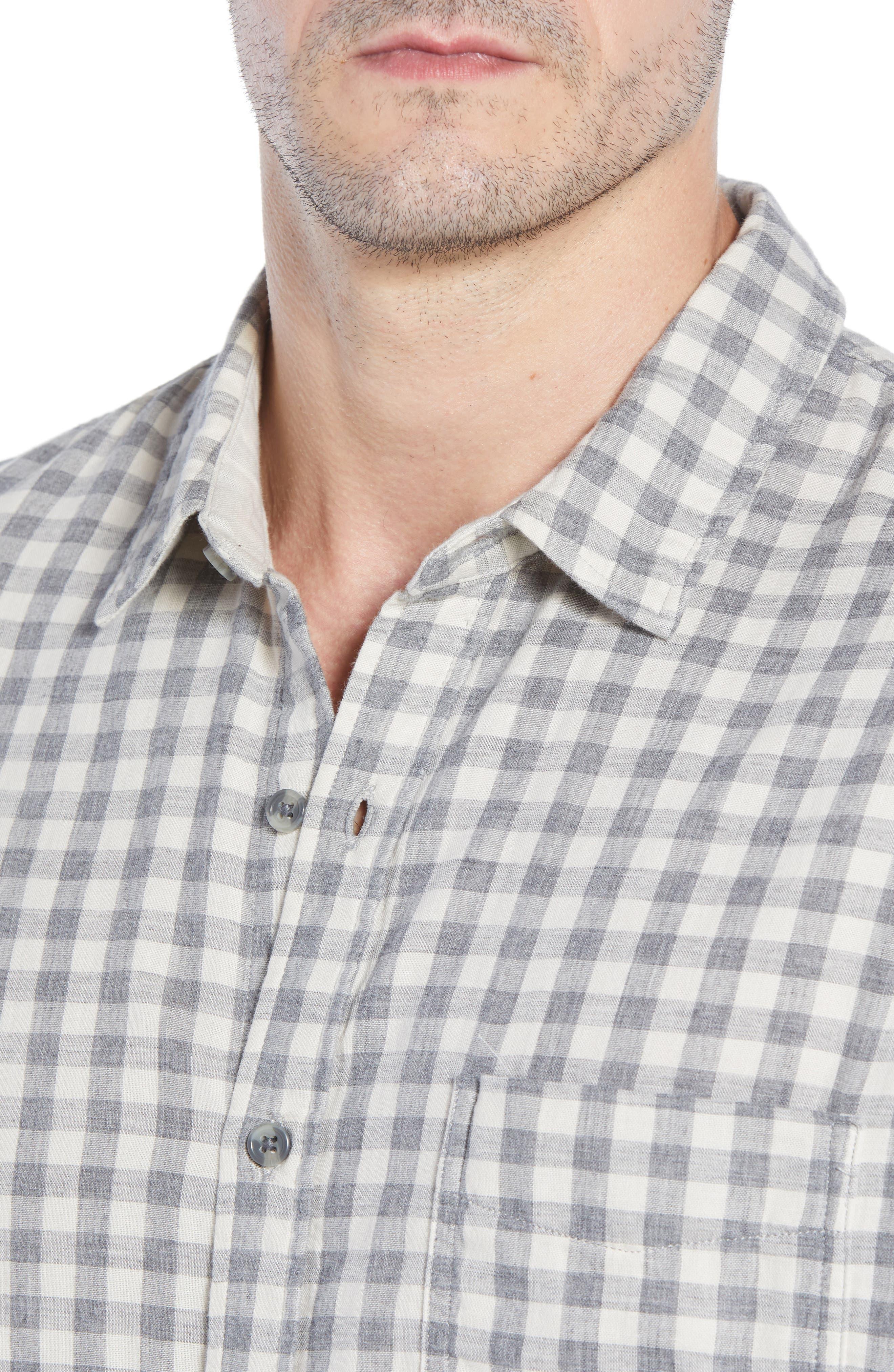 Connor Regular Fit Check Sport Shirt,                             Alternate thumbnail 2, color,                             EGGSHELL GREY