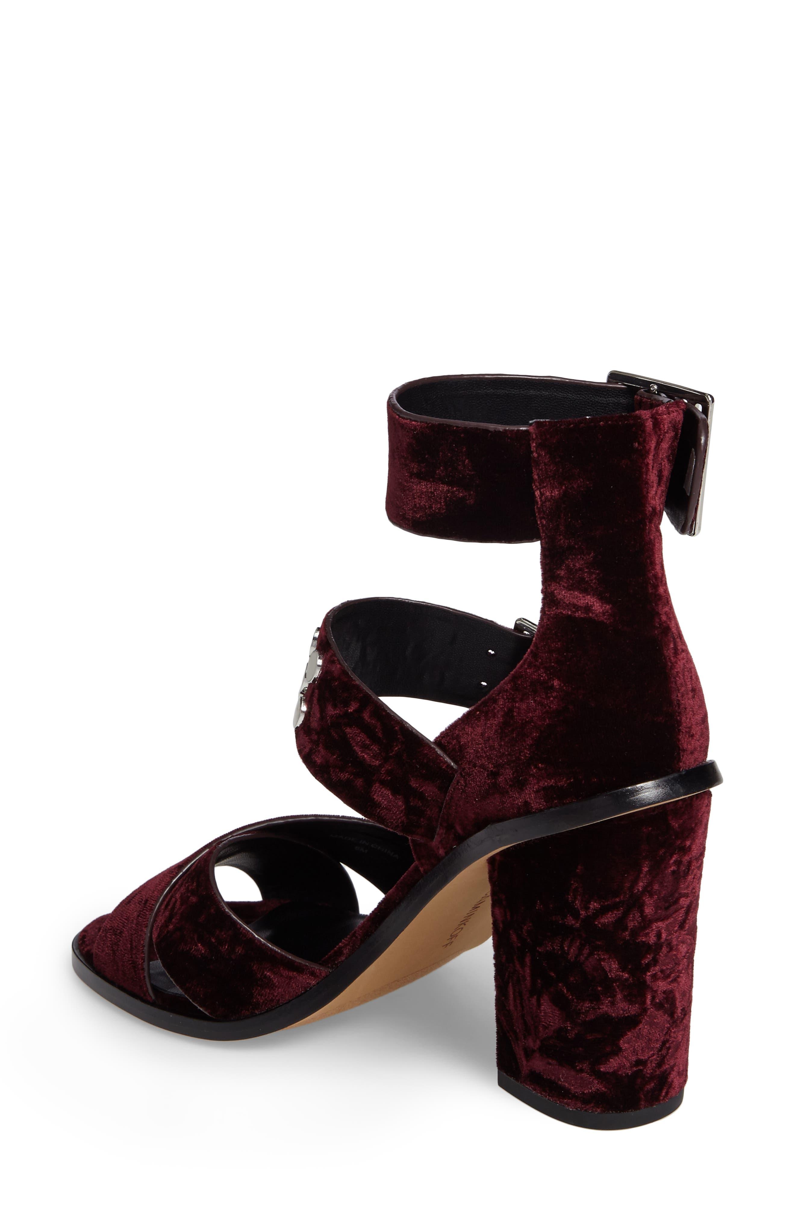 Jennifer Studded Ankle Cuff Sandal,                             Alternate thumbnail 6, color,