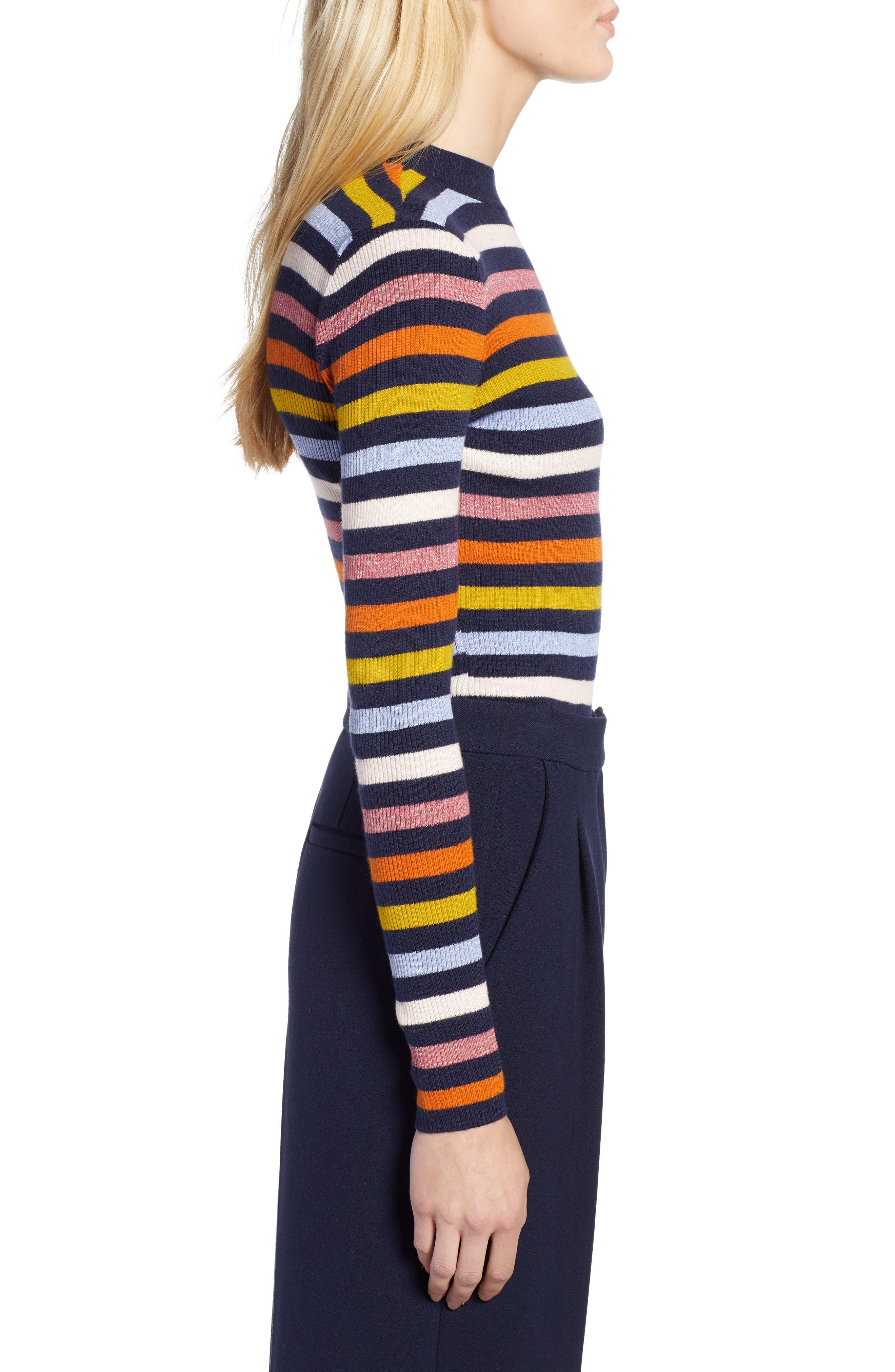 x Atlantic-Pacific Shimmer Stripe Sweater,                             Alternate thumbnail 4, color,                             NAVY MULTI STRIPE