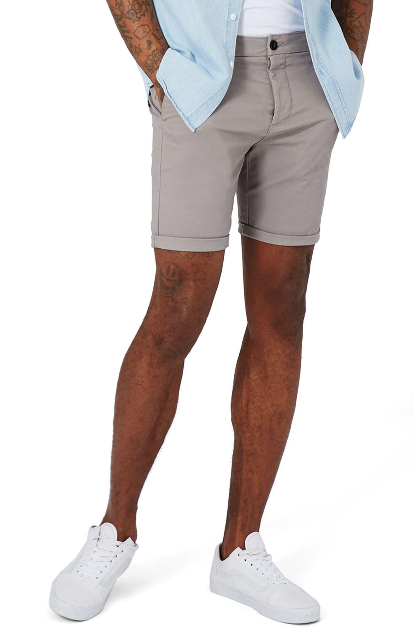 Stretch Skinny Fit Chino Shorts,                             Main thumbnail 1, color,                             030