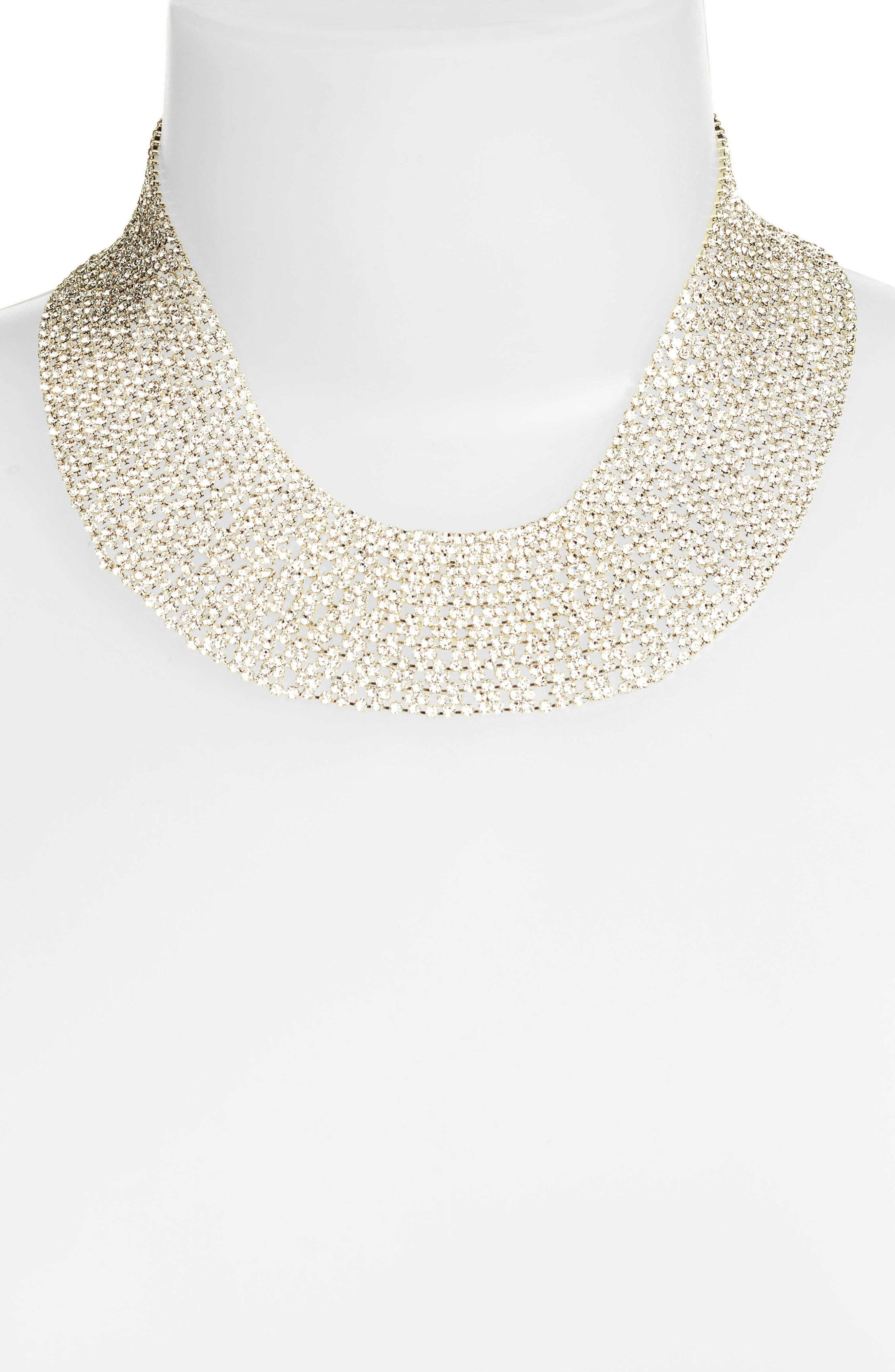 Crystal Collar Necklace,                             Alternate thumbnail 6, color,