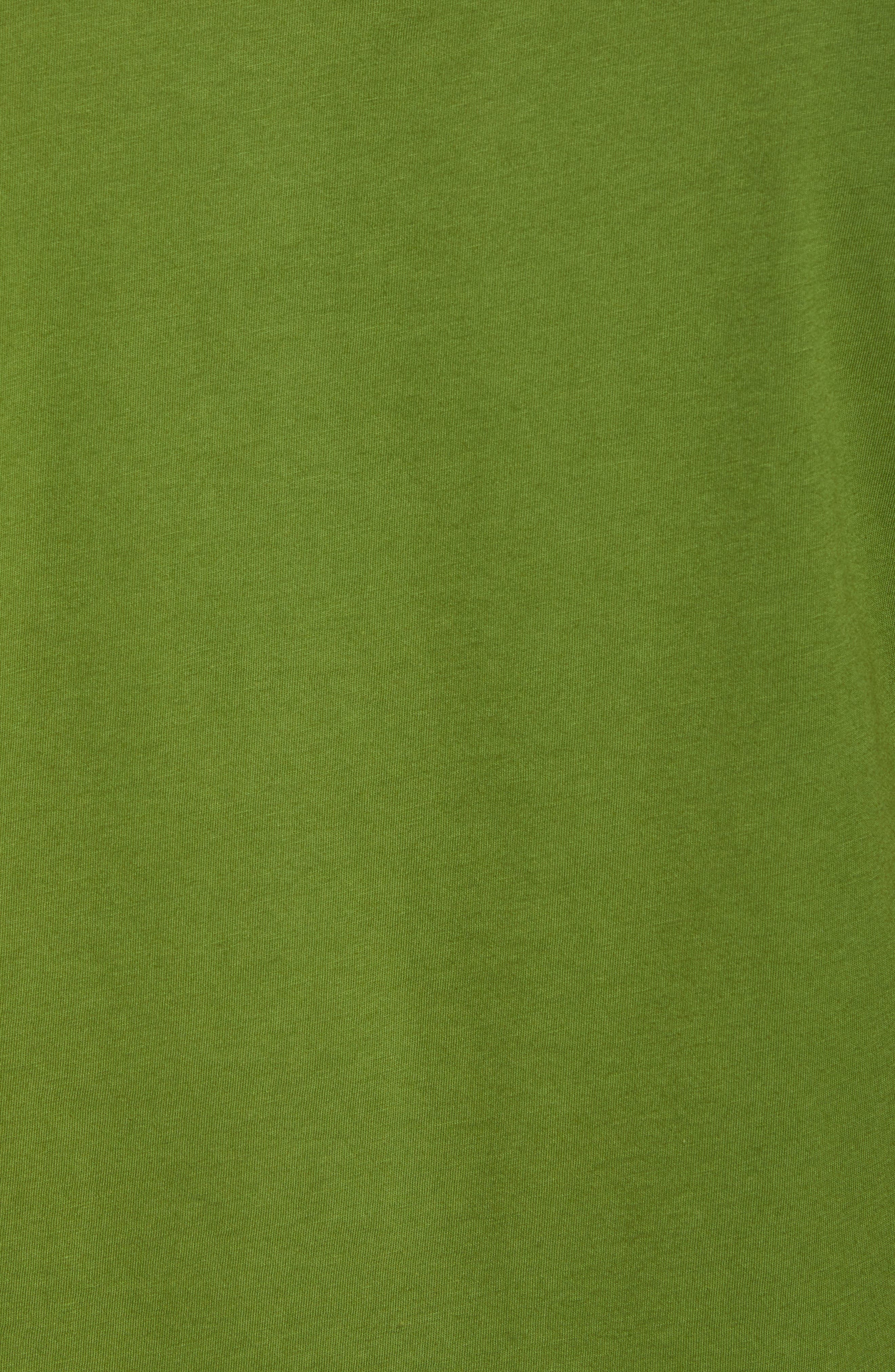 Fitz Roy Bear Crewneck T-Shirt,                             Alternate thumbnail 5, color,                             SPROUTED GREEN