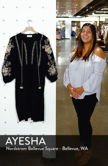 Embroidered Peasant Dress, sales video thumbnail