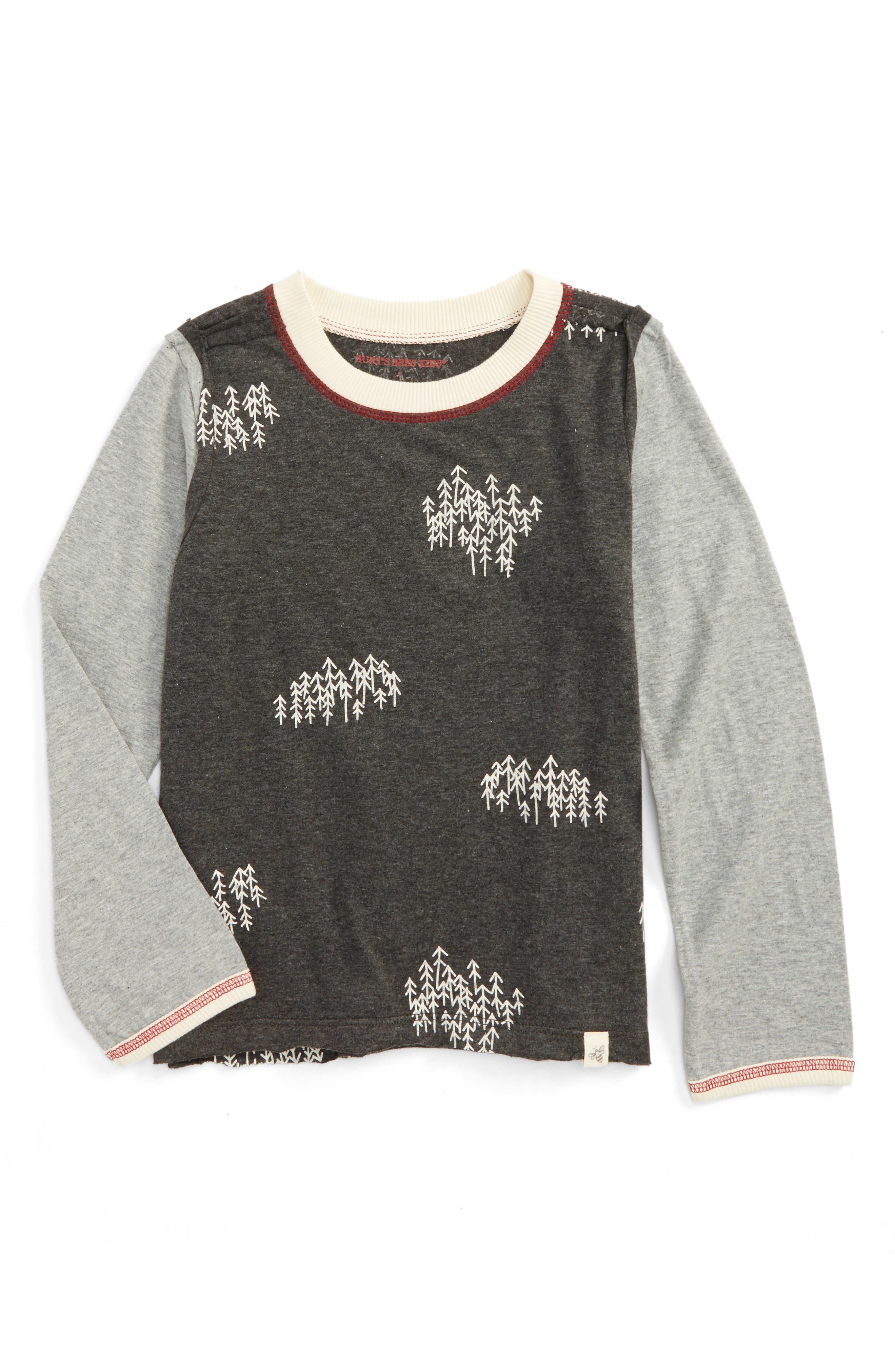 Snowy Trees Organic Cotton T-Shirt,                             Main thumbnail 1, color,                             024