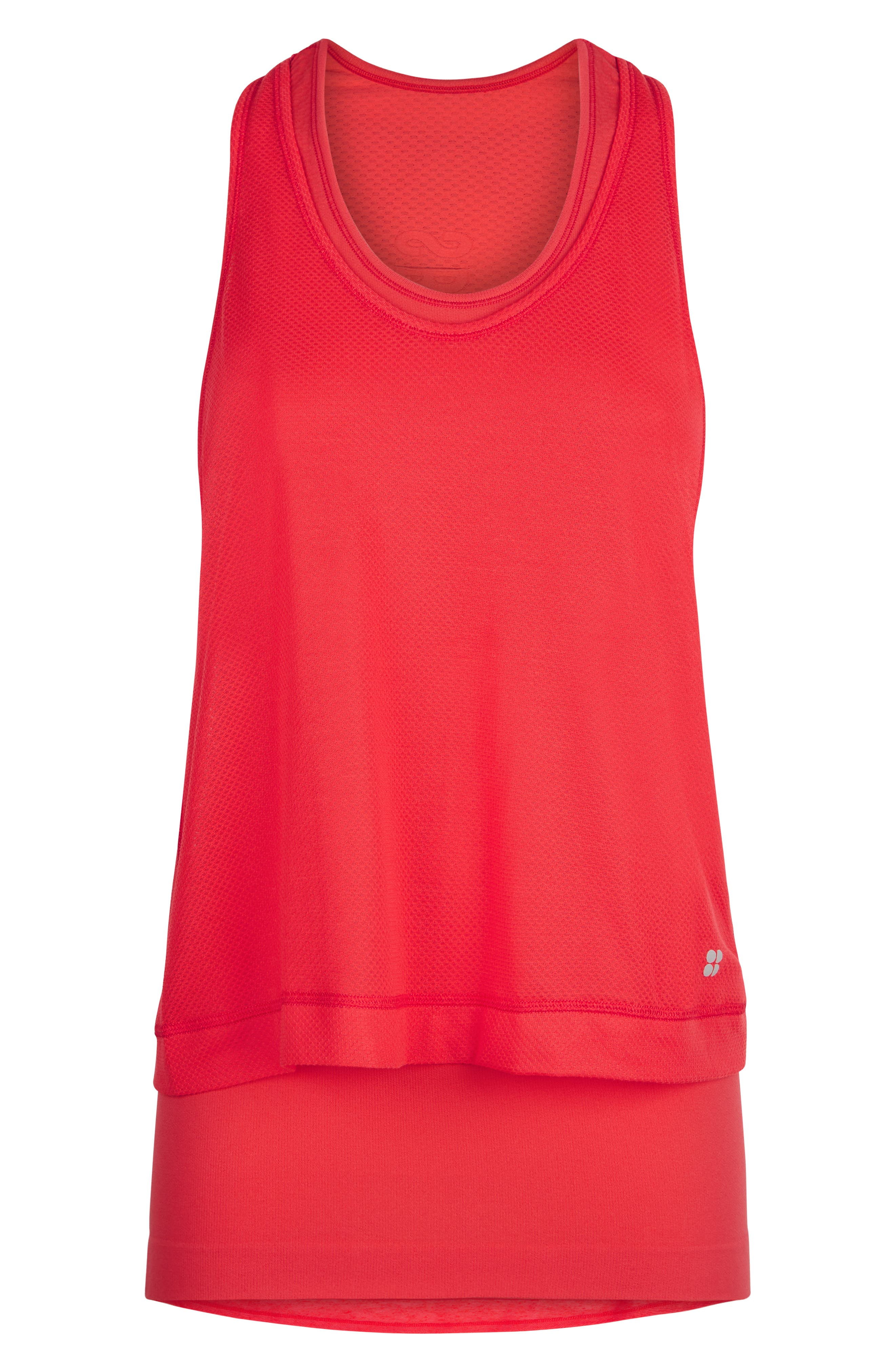 SWEATY BETTY,                             Double Time Seamless Tank,                             Alternate thumbnail 5, color,                             TULIP RED