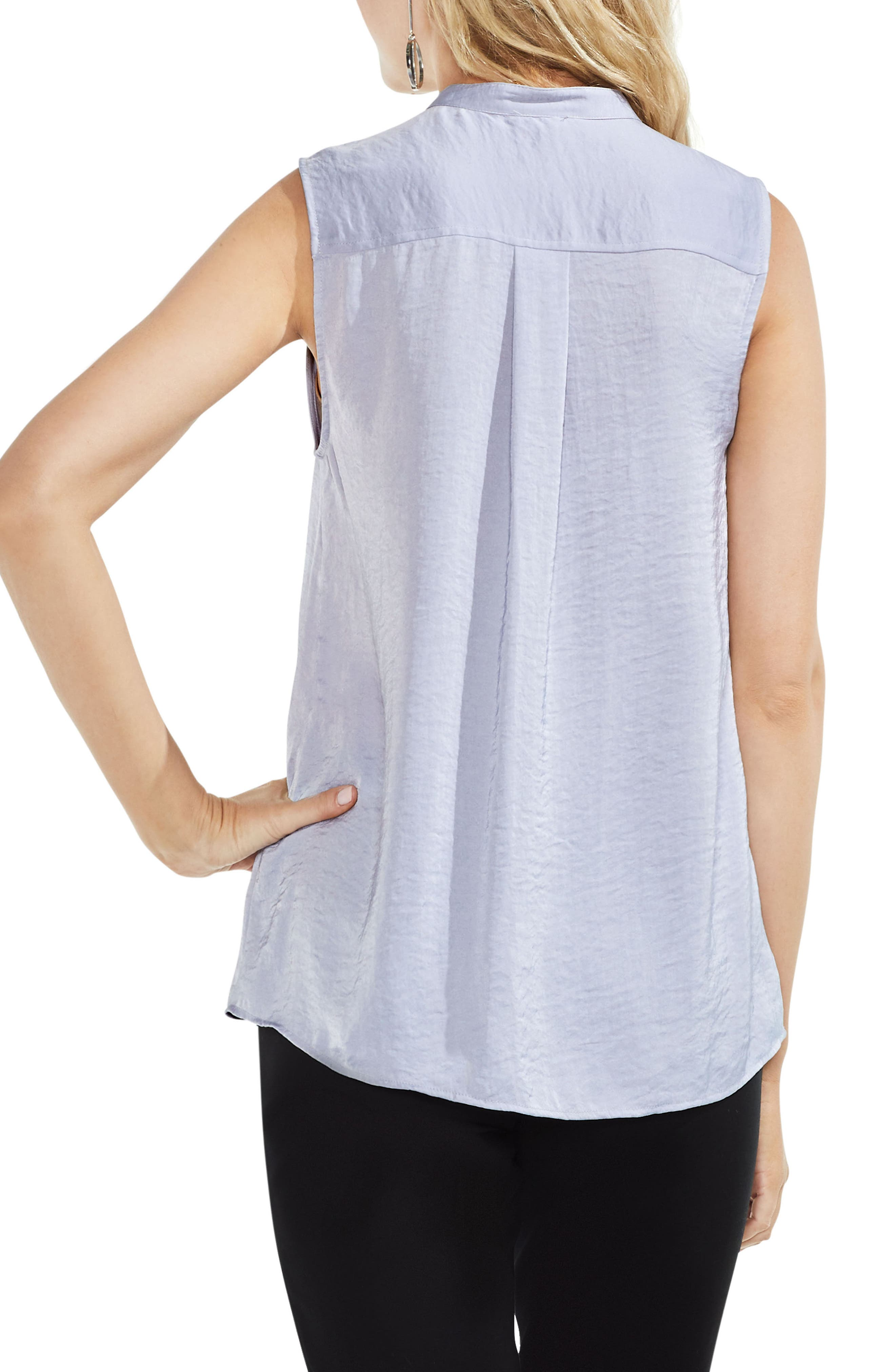 Sleeveless Henley Blouse,                             Alternate thumbnail 8, color,
