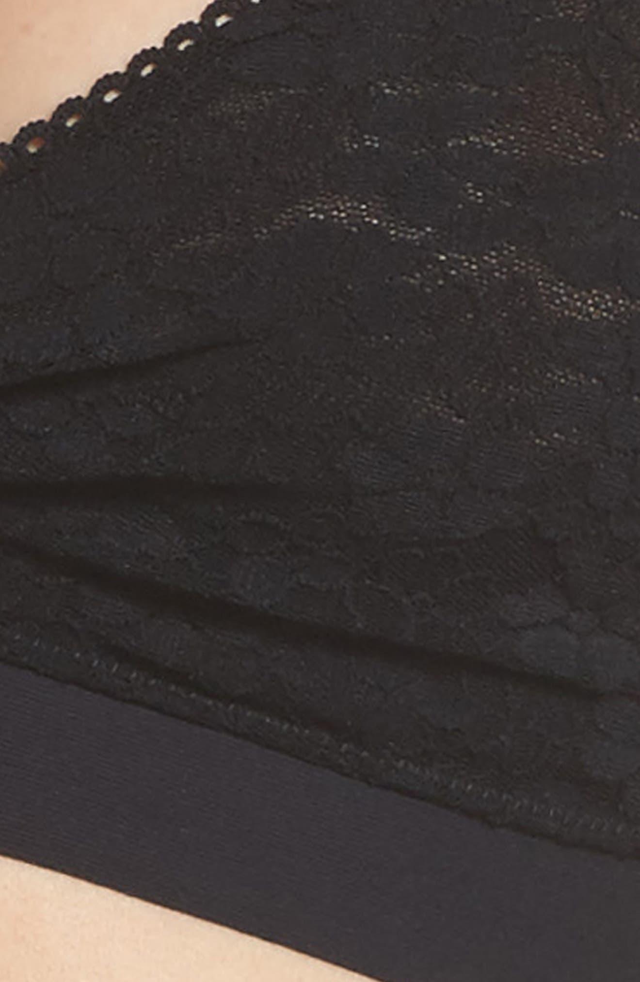 Luxury Lace Bralette,                             Alternate thumbnail 5, color,                             BLACK