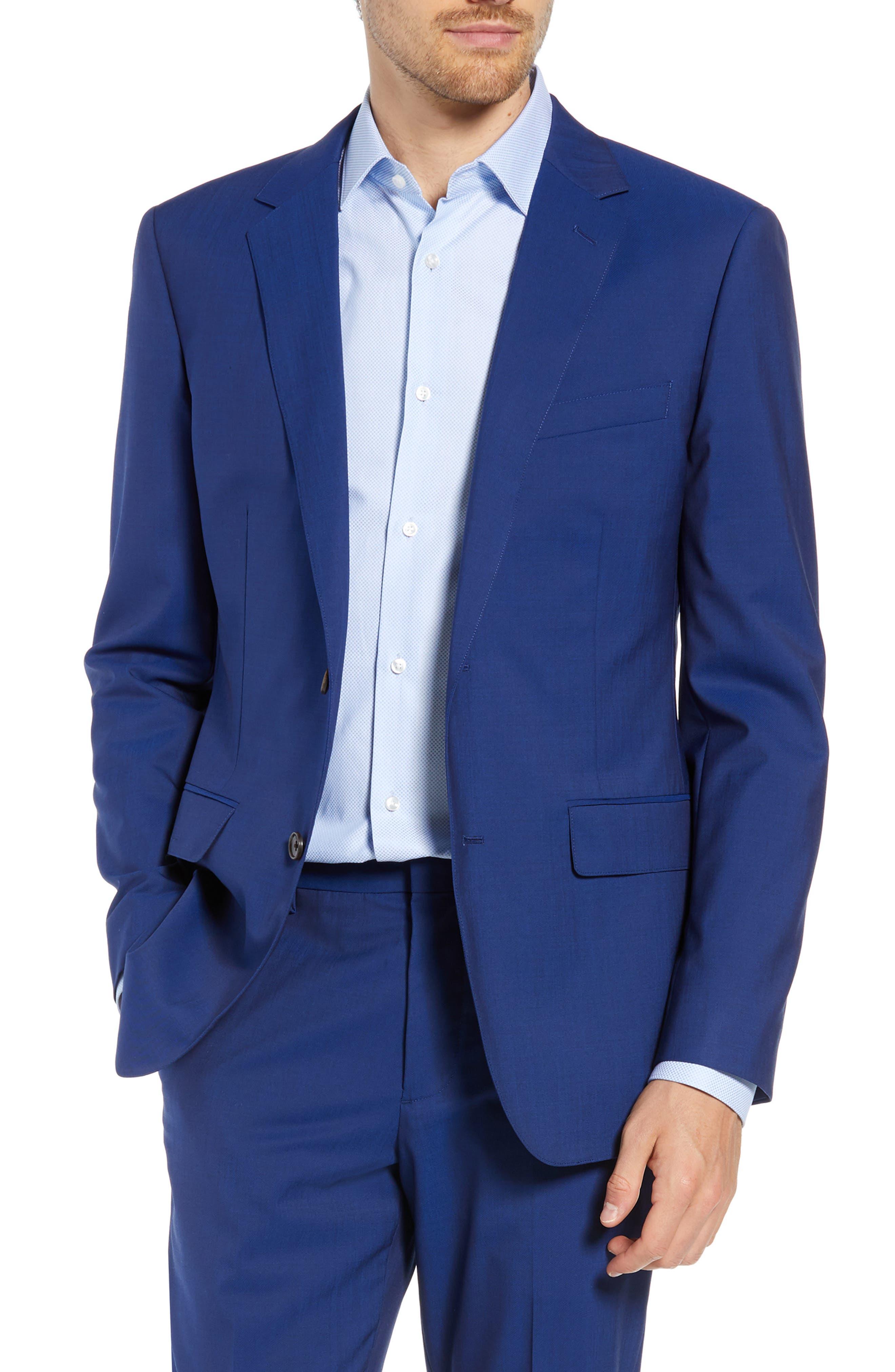 Jetsetter Slim Fit Stretch Wool Blazer,                         Main,                         color, BRILLIANT NAVY